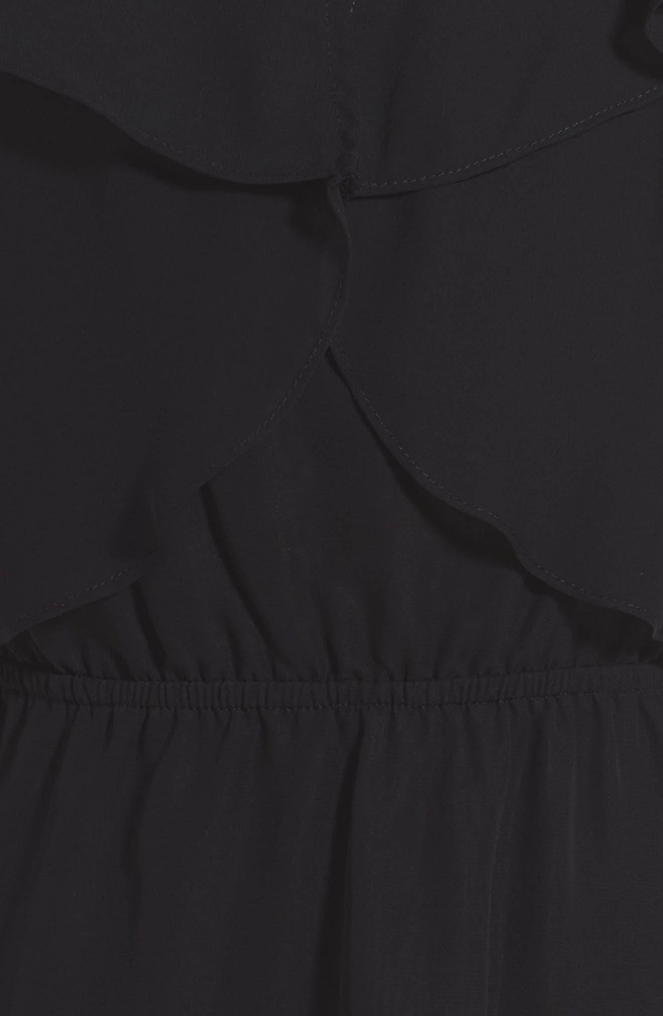 Ruffle Dress,                             Alternate thumbnail 3, color,                             001