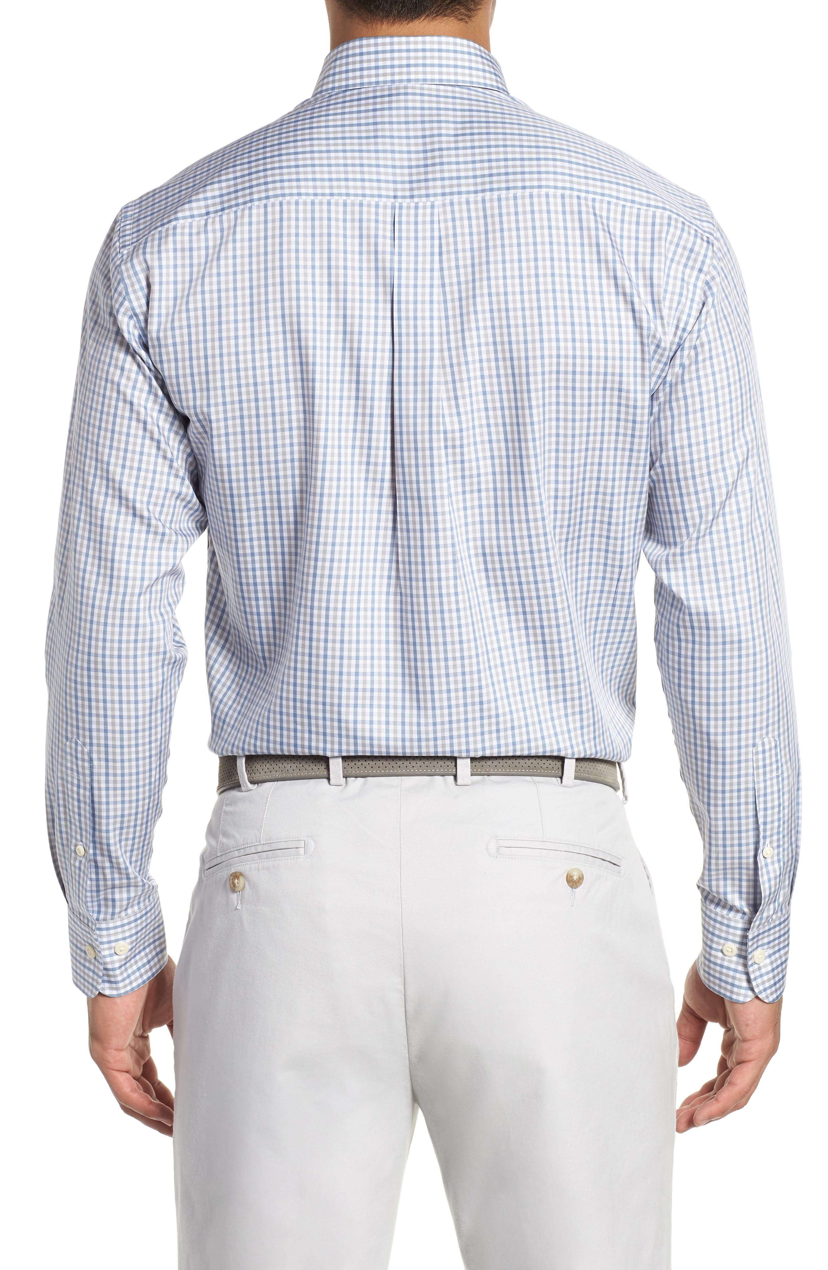 Lake City Regular Fit Tattersall Sport Shirt,                             Alternate thumbnail 3, color,                             020