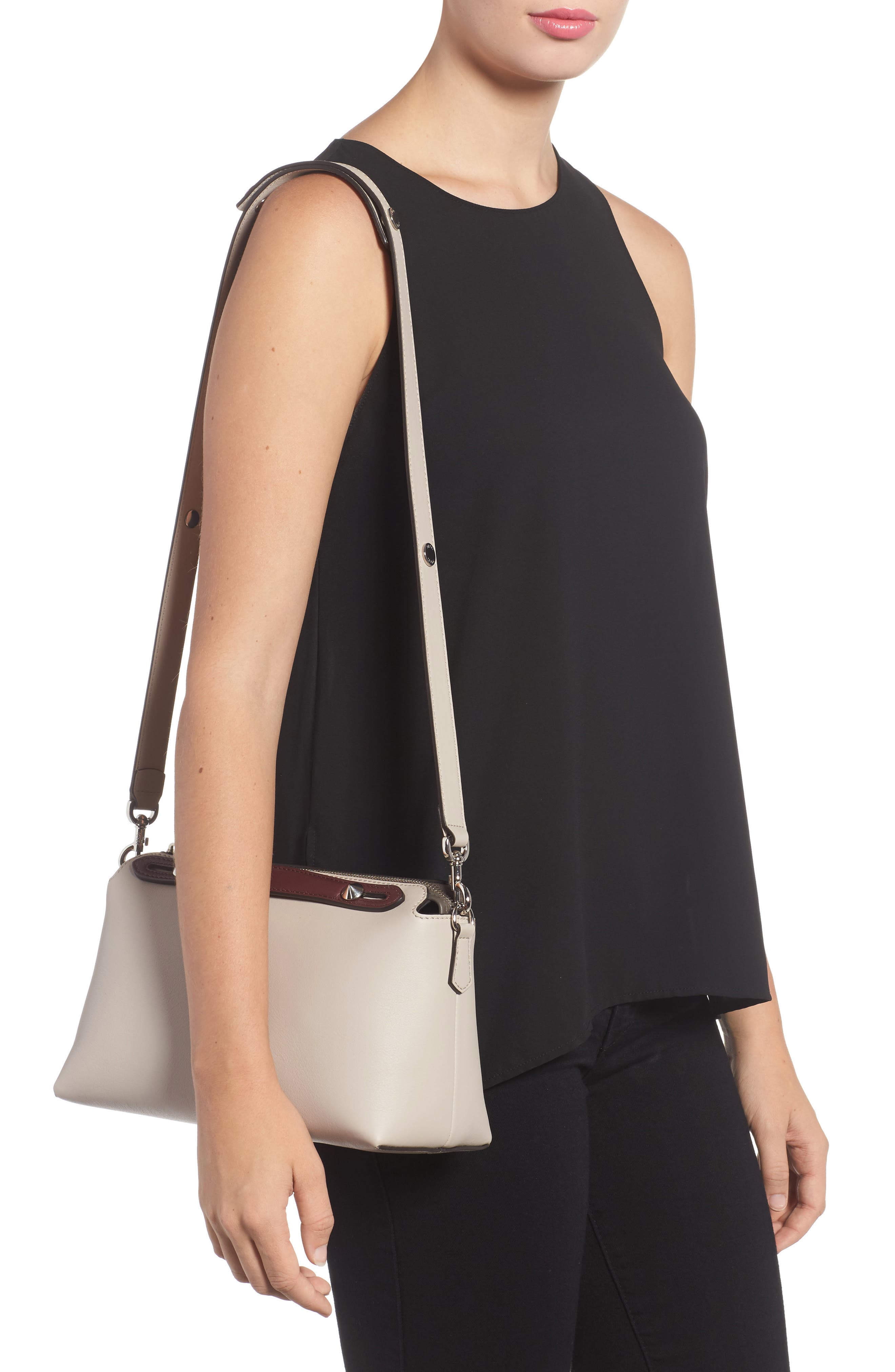 'Medium By the Way' Colorblock Leather Shoulder Bag,                             Alternate thumbnail 22, color,