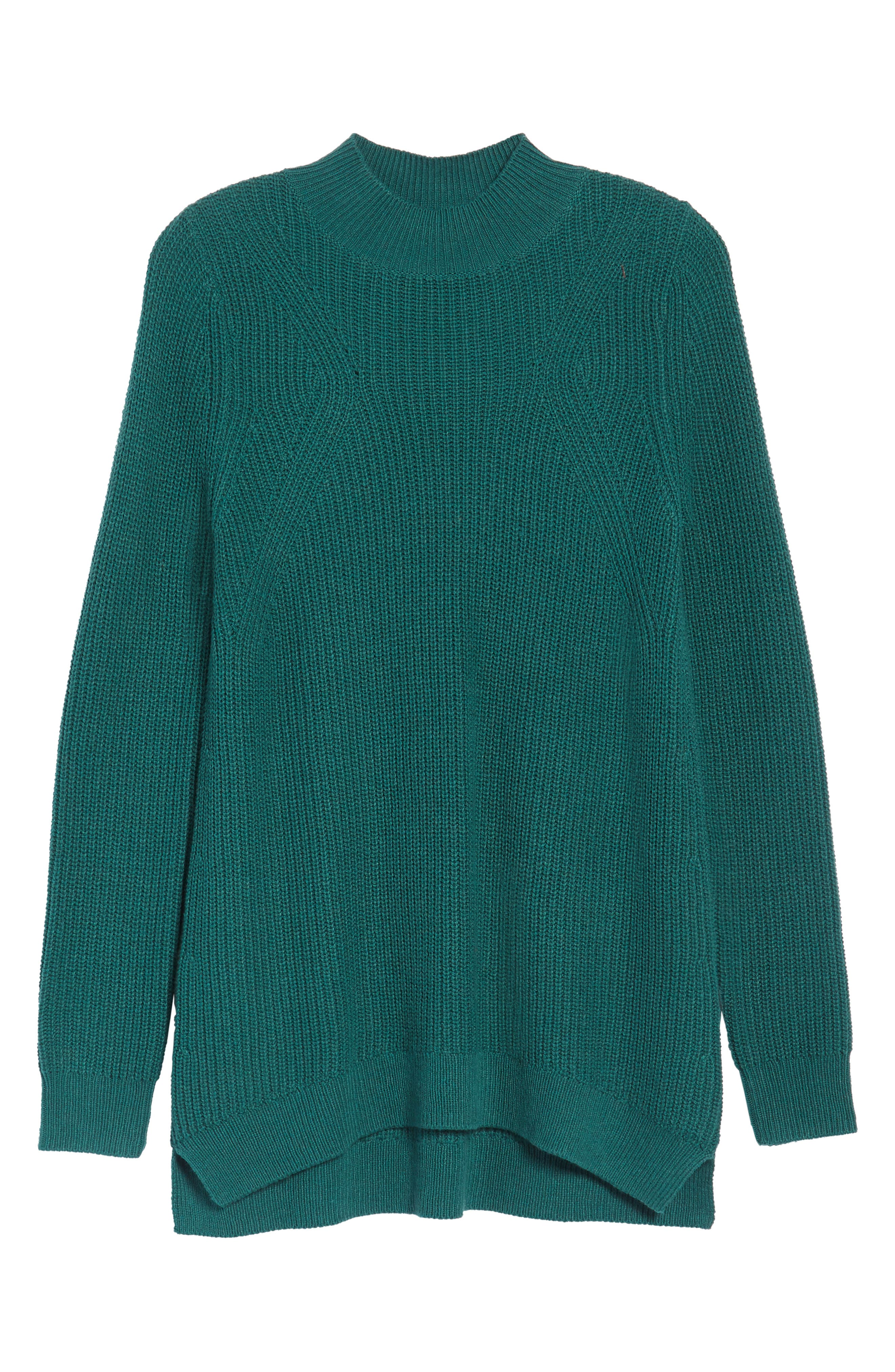 Mock Neck Tunic Sweater,                             Alternate thumbnail 39, color,