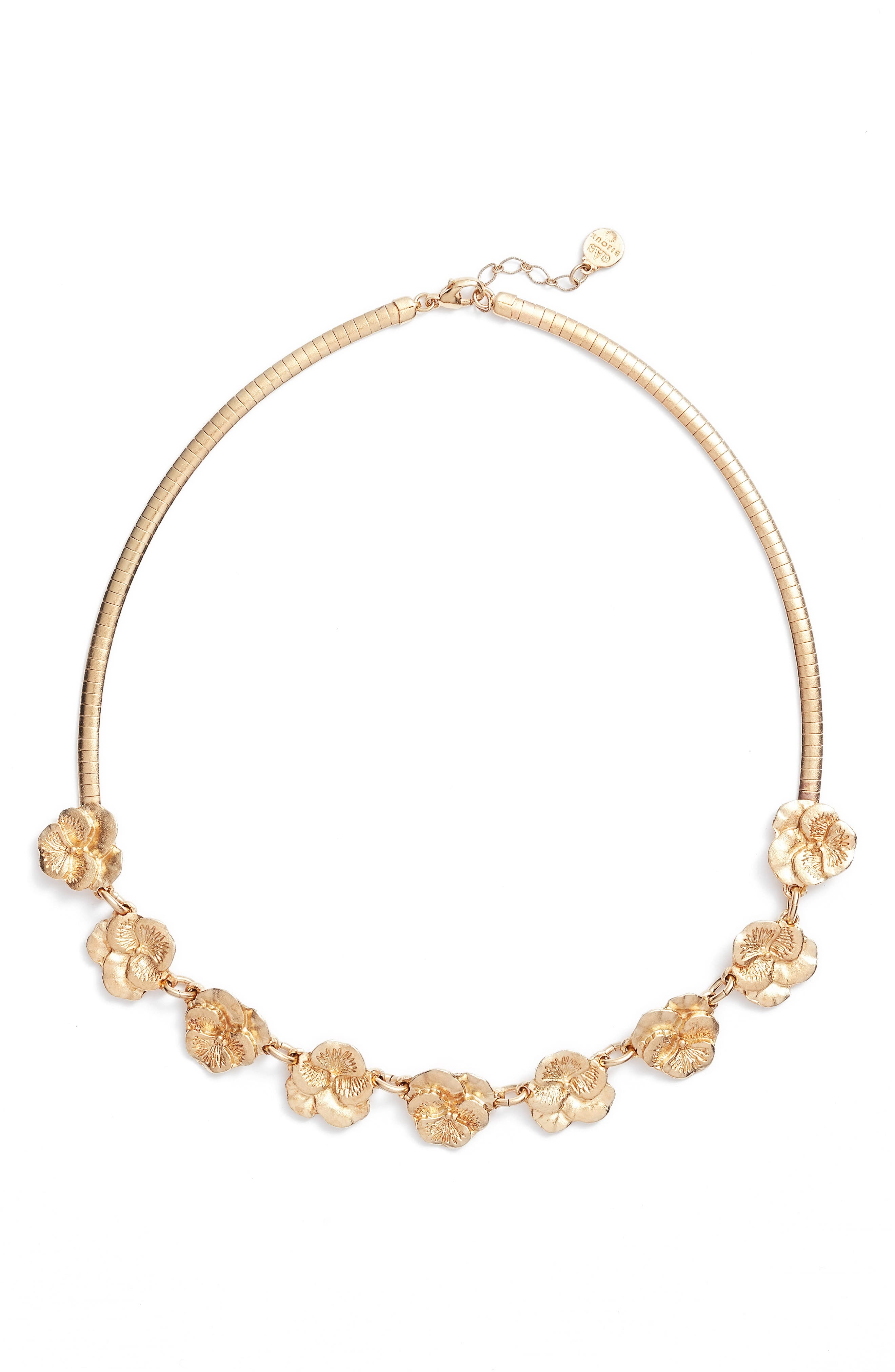 Pansy Frontal Necklace,                         Main,                         color, 710