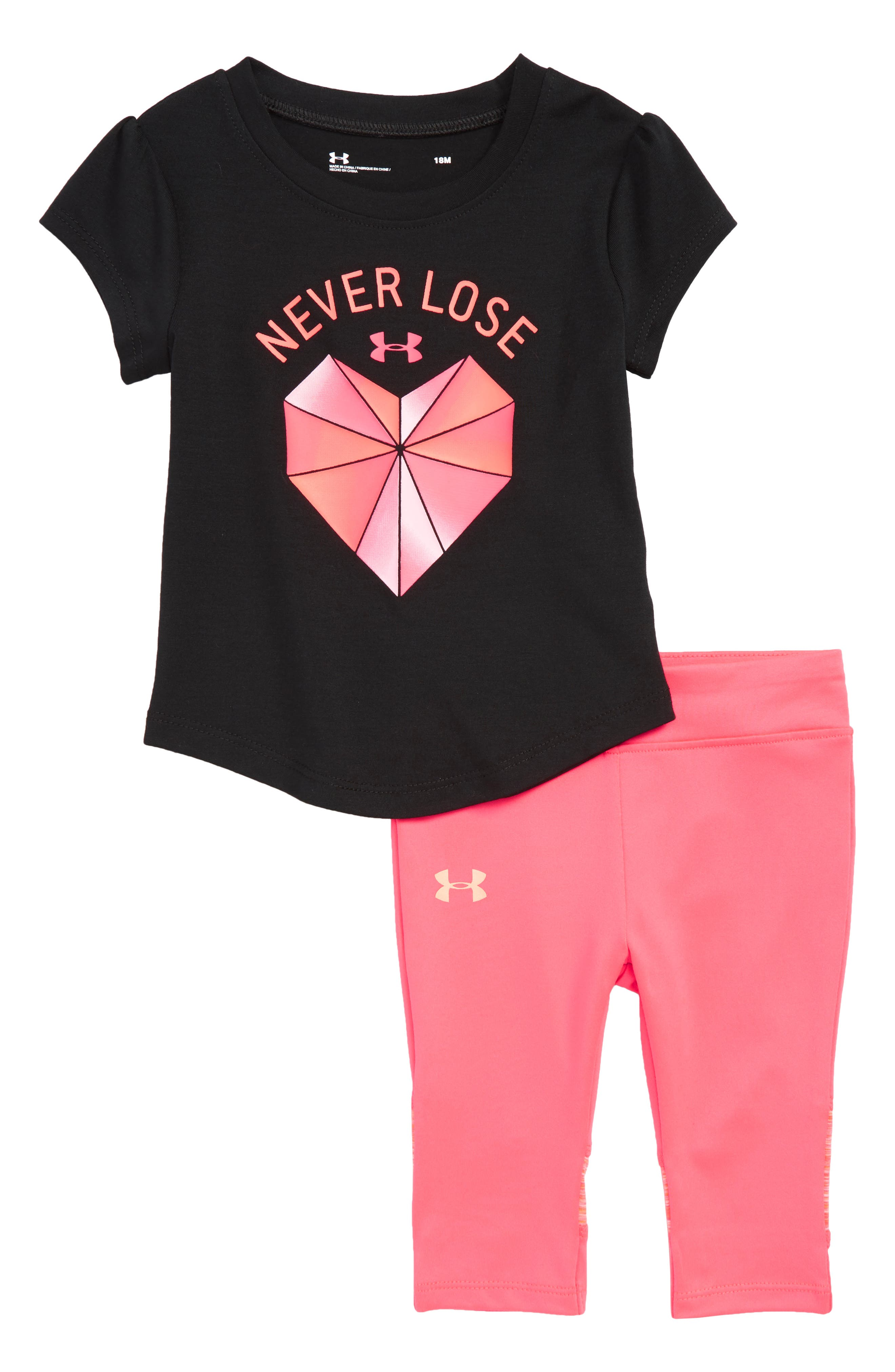 Infant Girls Under Armour Never Lose Graphic Tee  Leggings Set