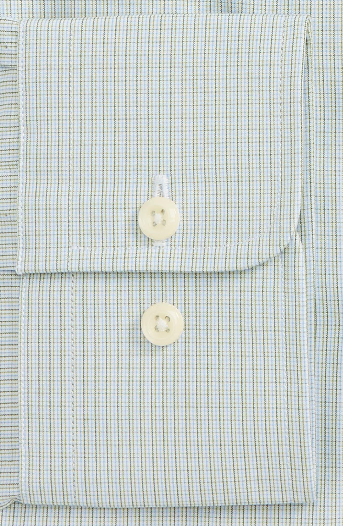 Trim Fit Check Dress Shirt,                             Alternate thumbnail 2, color,                             314
