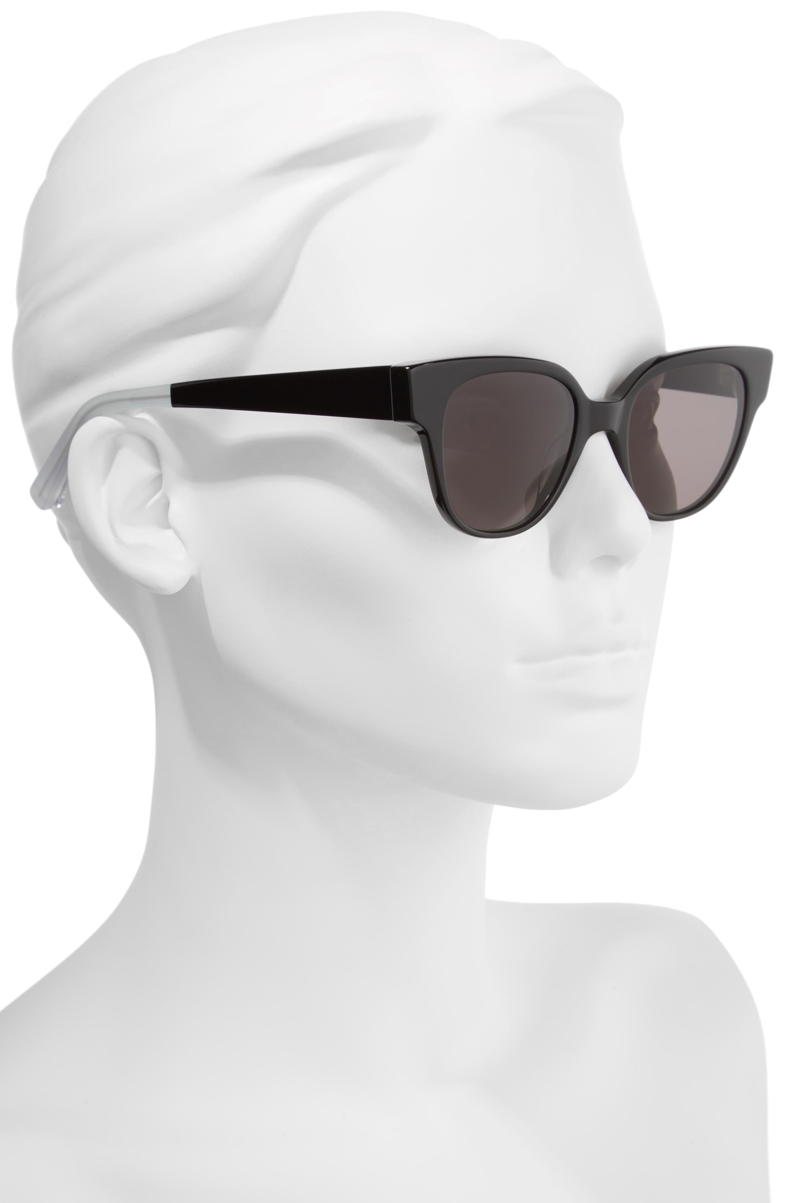Avory 49mm Cat Eye Sunglasses,                             Alternate thumbnail 3, color,
