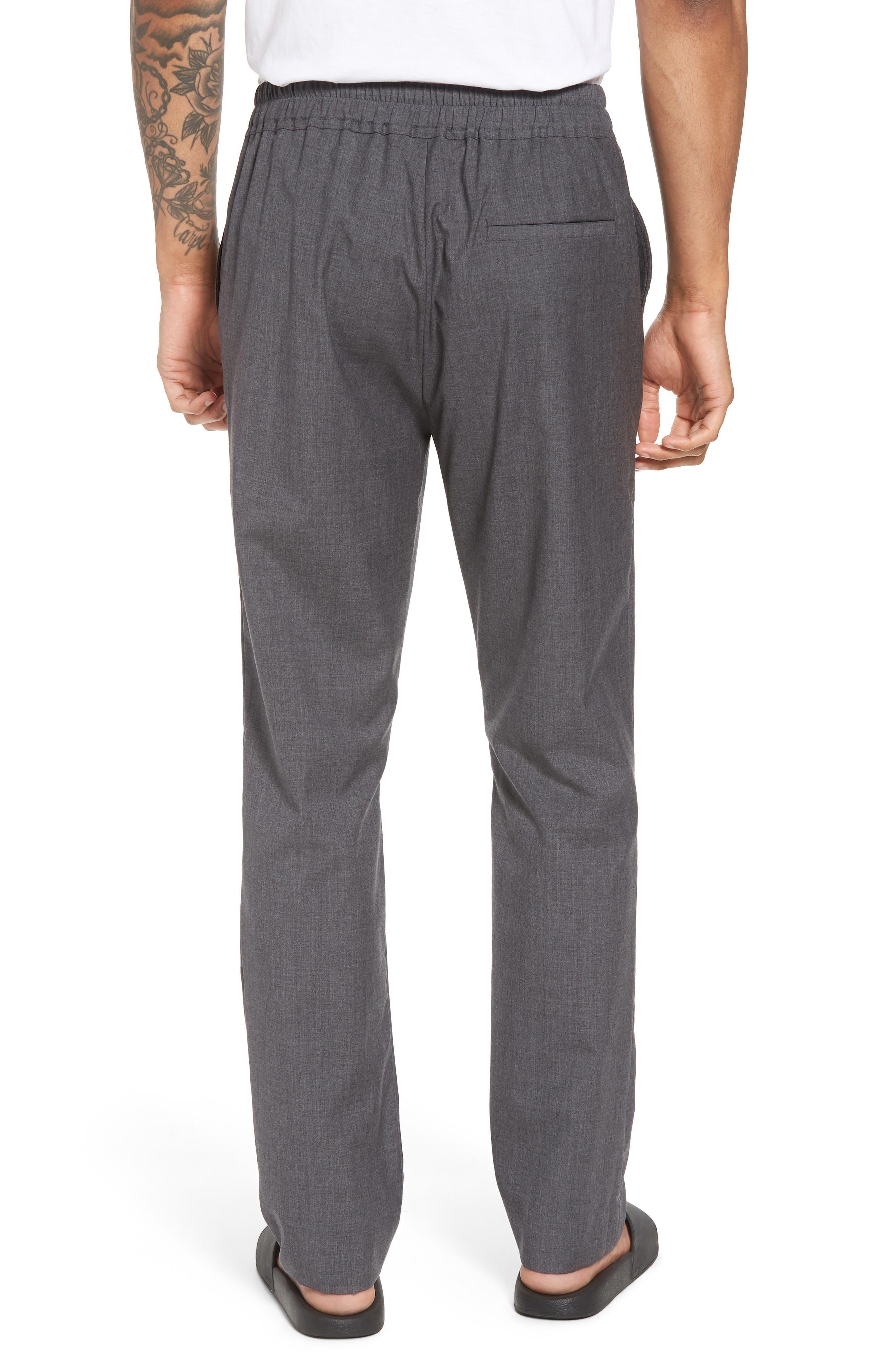Slim Fit Wool Track Pants,                             Alternate thumbnail 4, color,