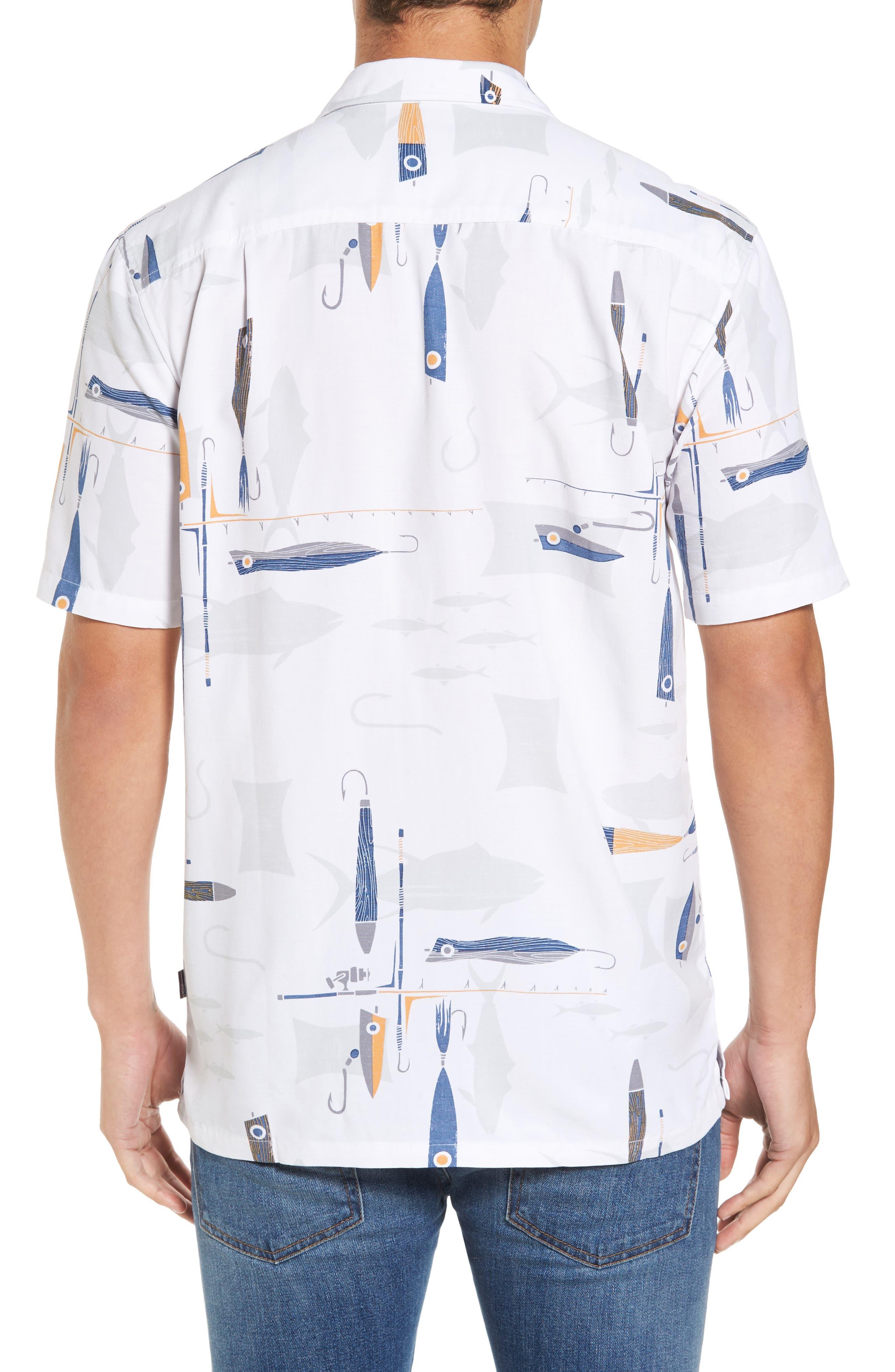 Hook and Line Print Camp Shirt,                             Alternate thumbnail 2, color,                             100