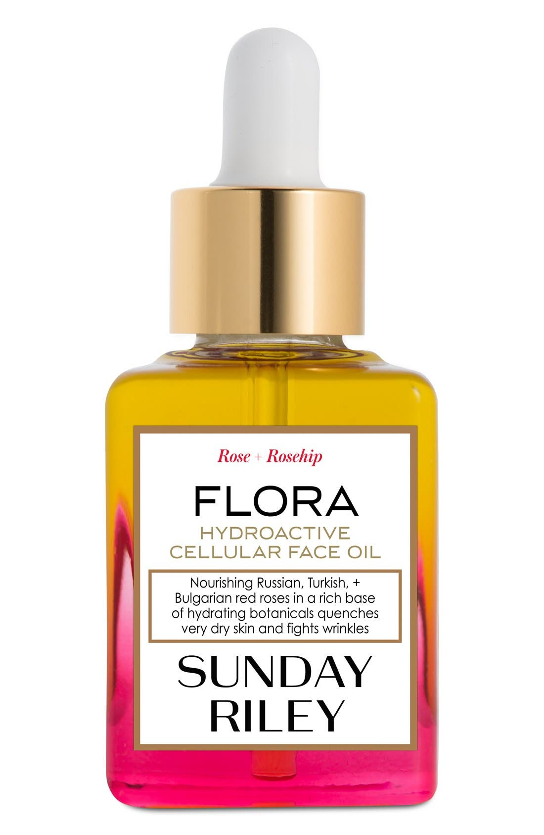 SPACE.NK.apothecary Sunday Riley Flora Hydroactive Cellular Face Oil,                             Main thumbnail 1, color,                             000