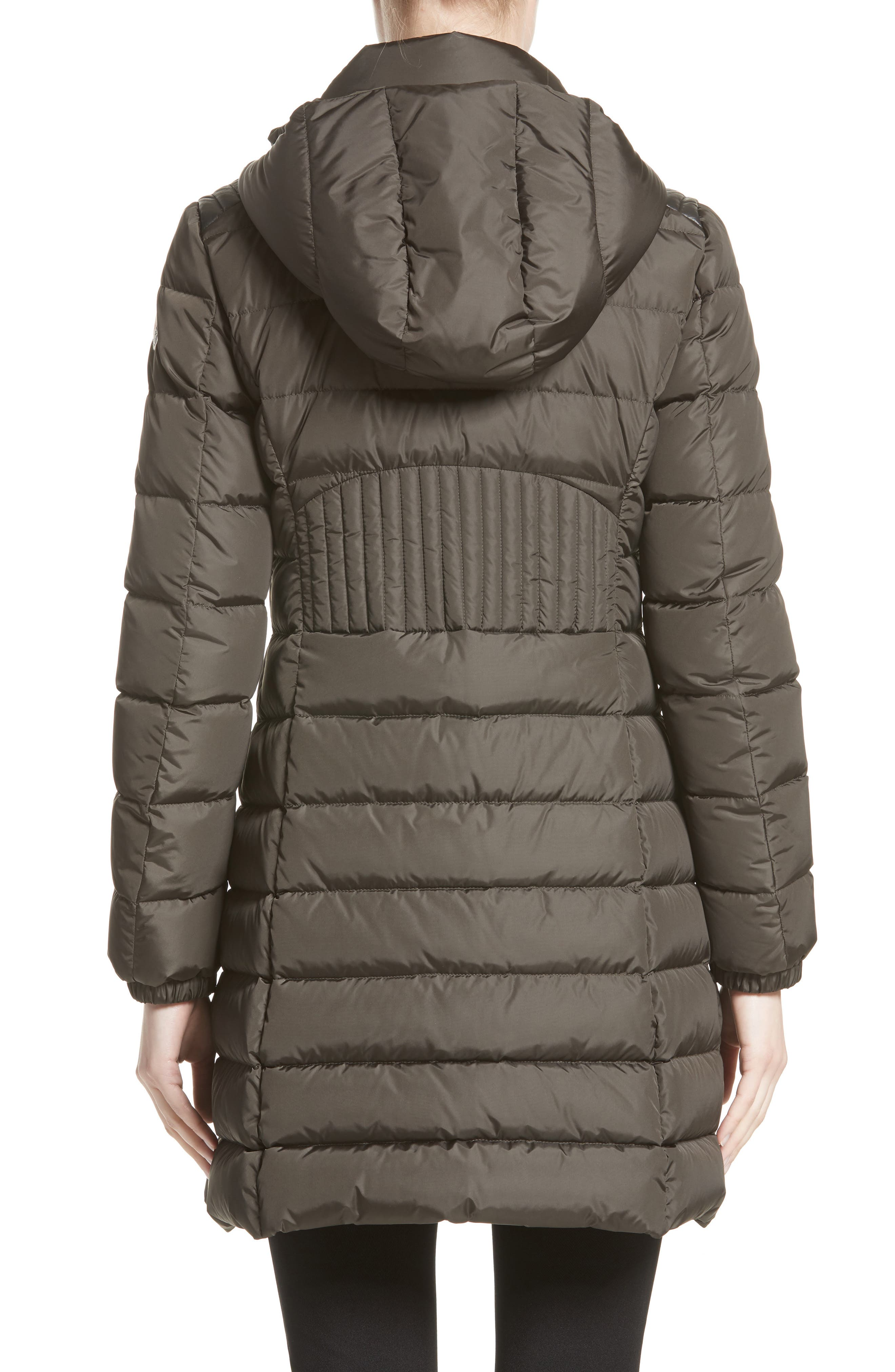 Orophin Hooded Down Puffer Coat,                             Alternate thumbnail 3, color,                             OLIVE