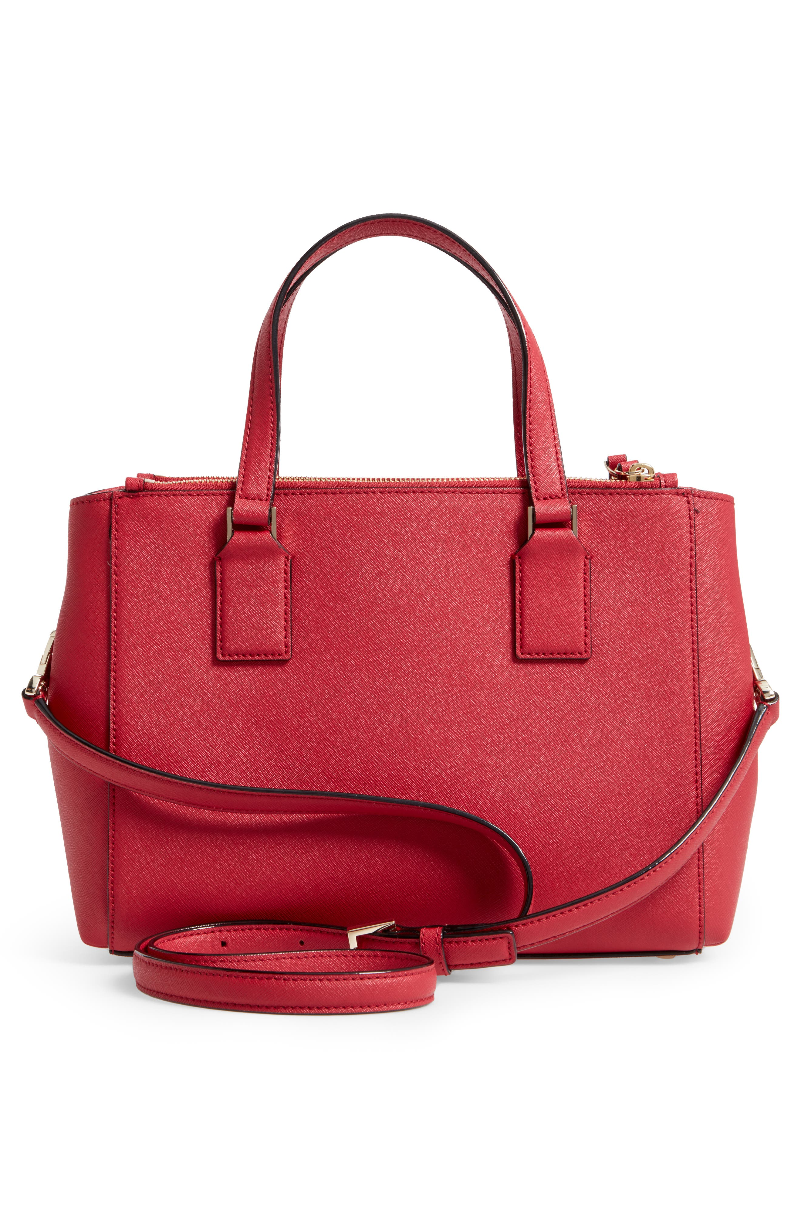 cameron street - teegan calfskin leather satchel,                             Alternate thumbnail 3, color,                             638