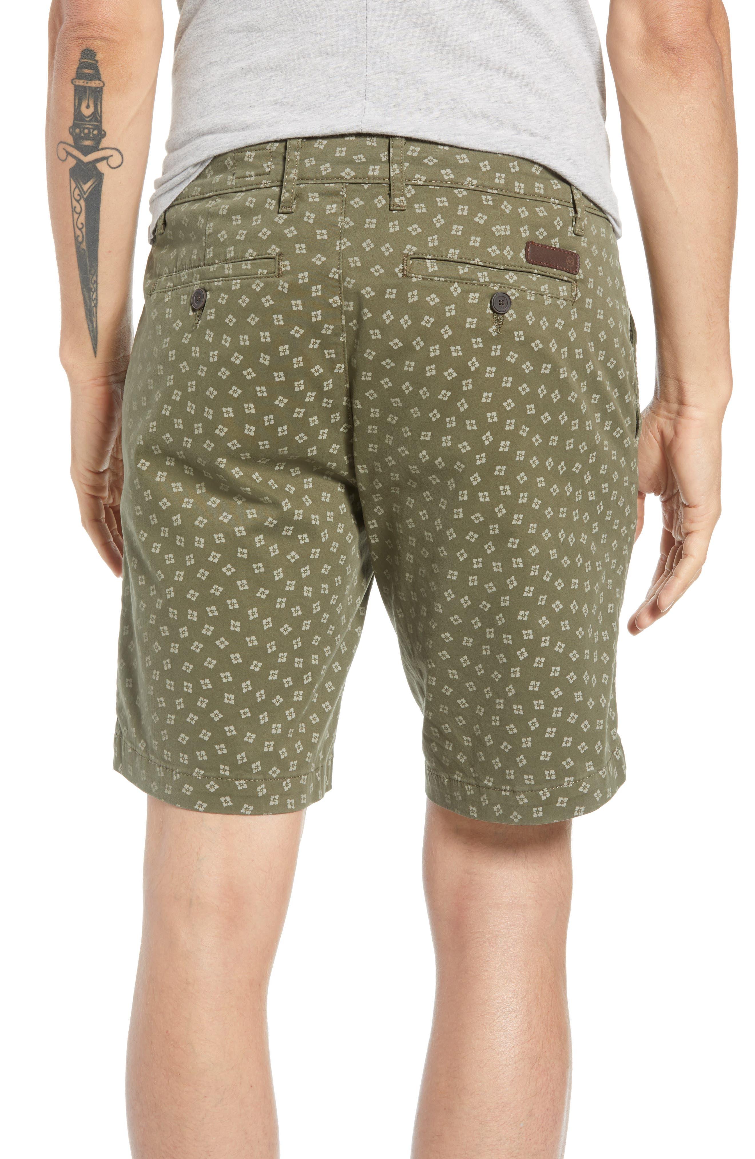 Flora Print Slim Fit Shorts,                             Alternate thumbnail 2, color,                             FLORA CANYON MOSS