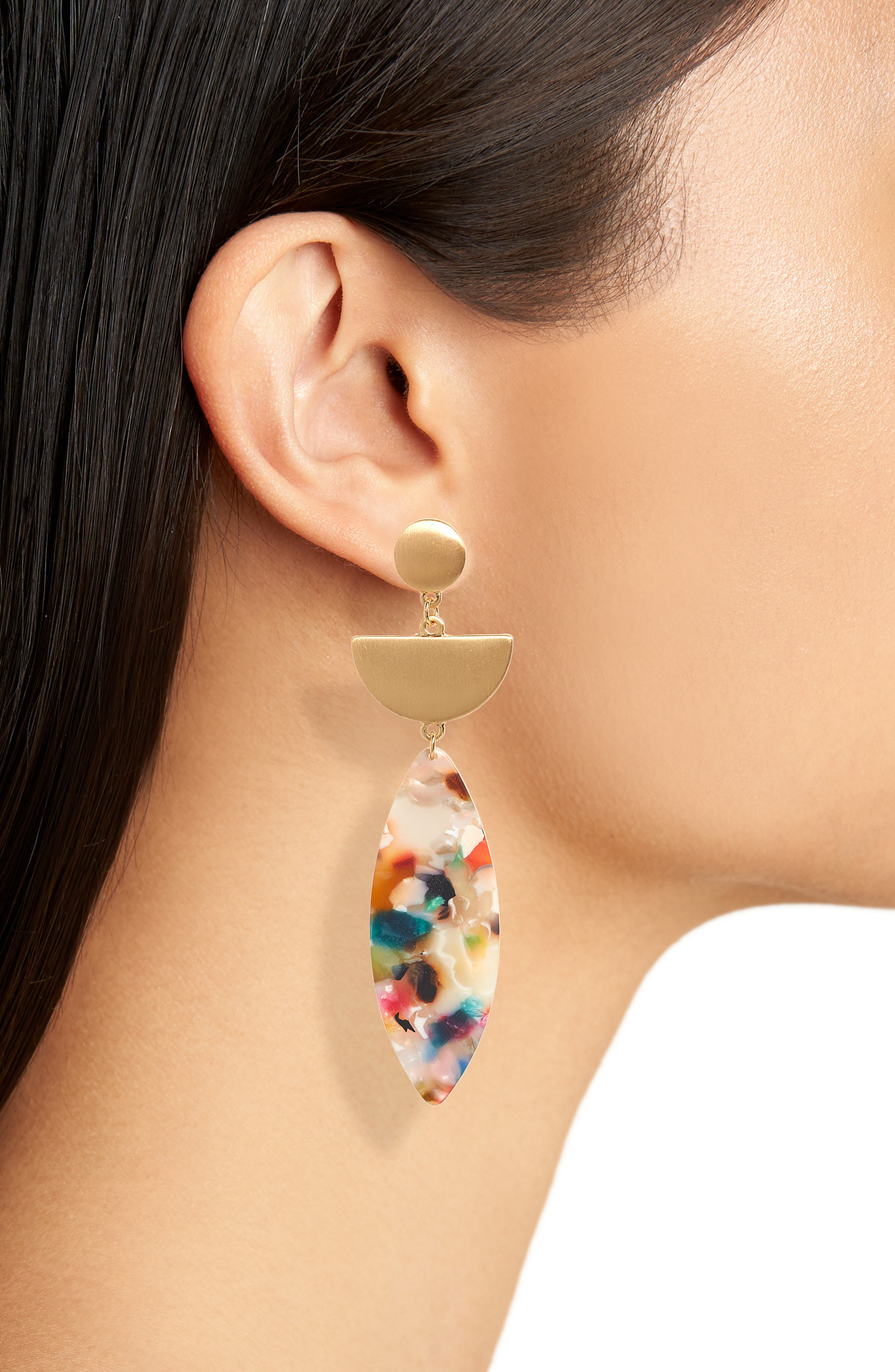 Marquise Drop Earrings,                             Alternate thumbnail 2, color,                             710