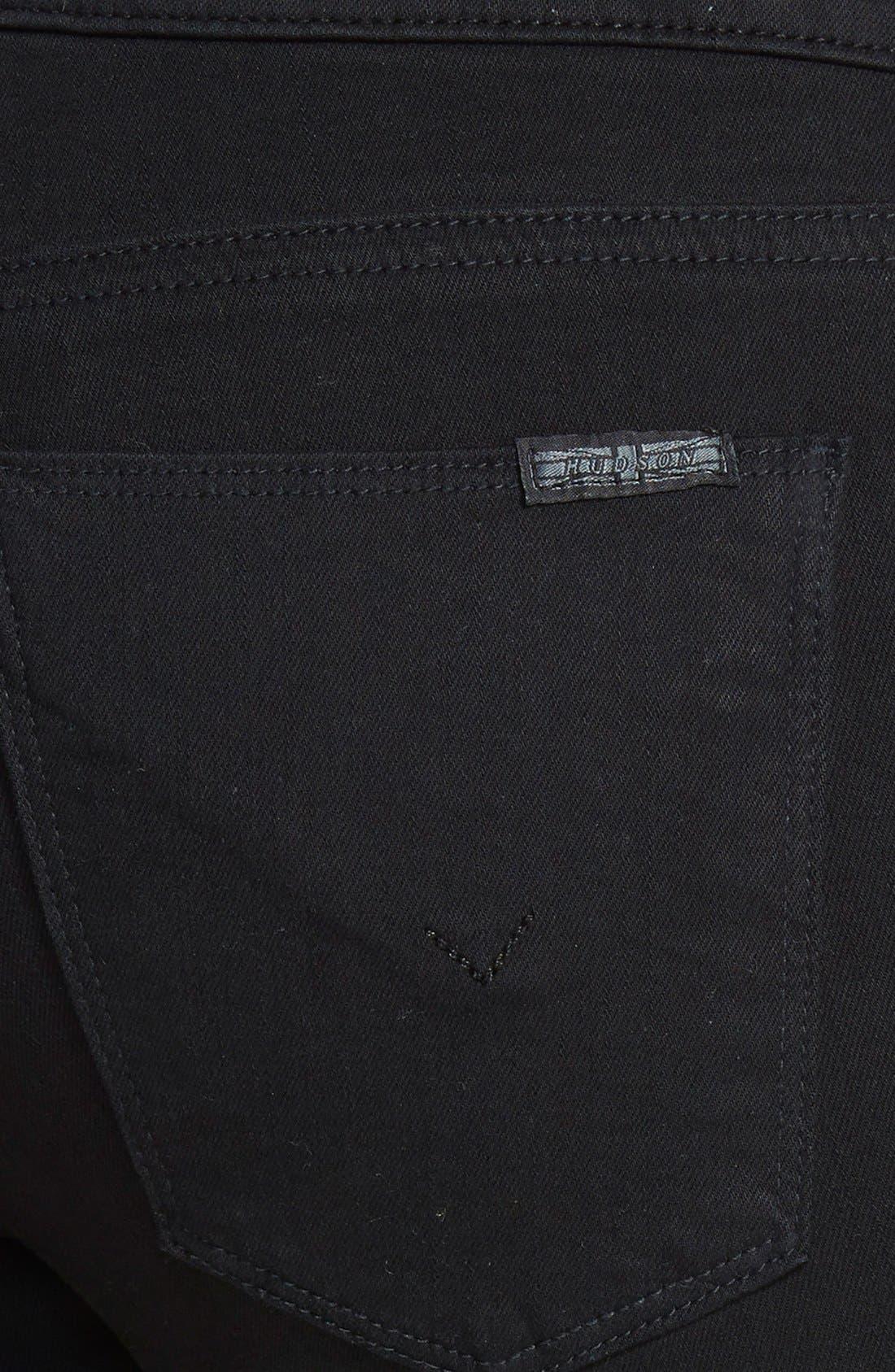 'Krista' Super Skinny Jeans,                             Alternate thumbnail 4, color,                             001