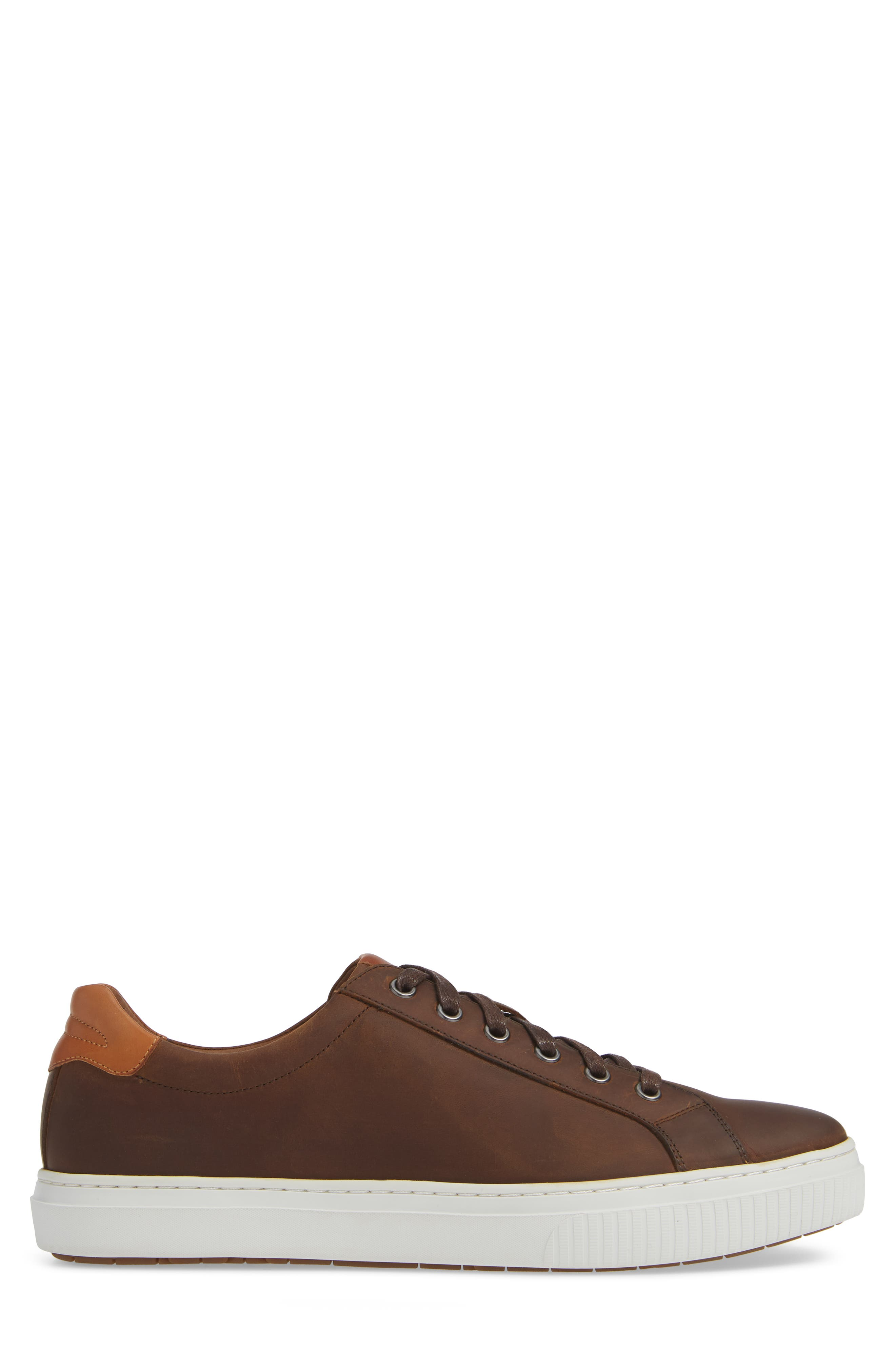Toliver Low Top Sneaker,                             Alternate thumbnail 3, color,                             TAN LEATHER