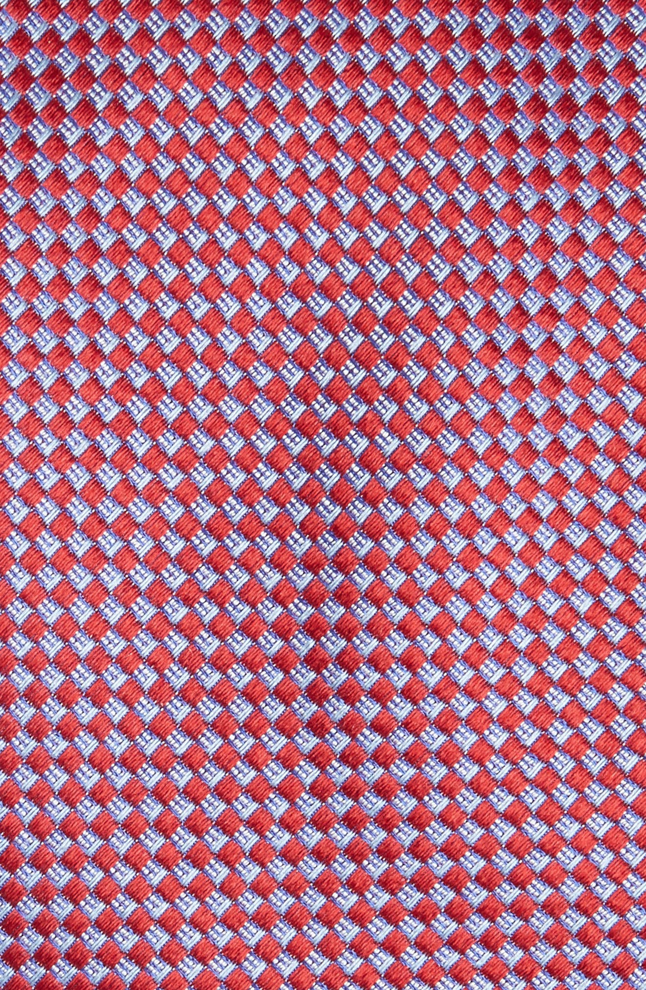 Geometric Silk Tie,                             Alternate thumbnail 2, color,                             RED/ BLUE