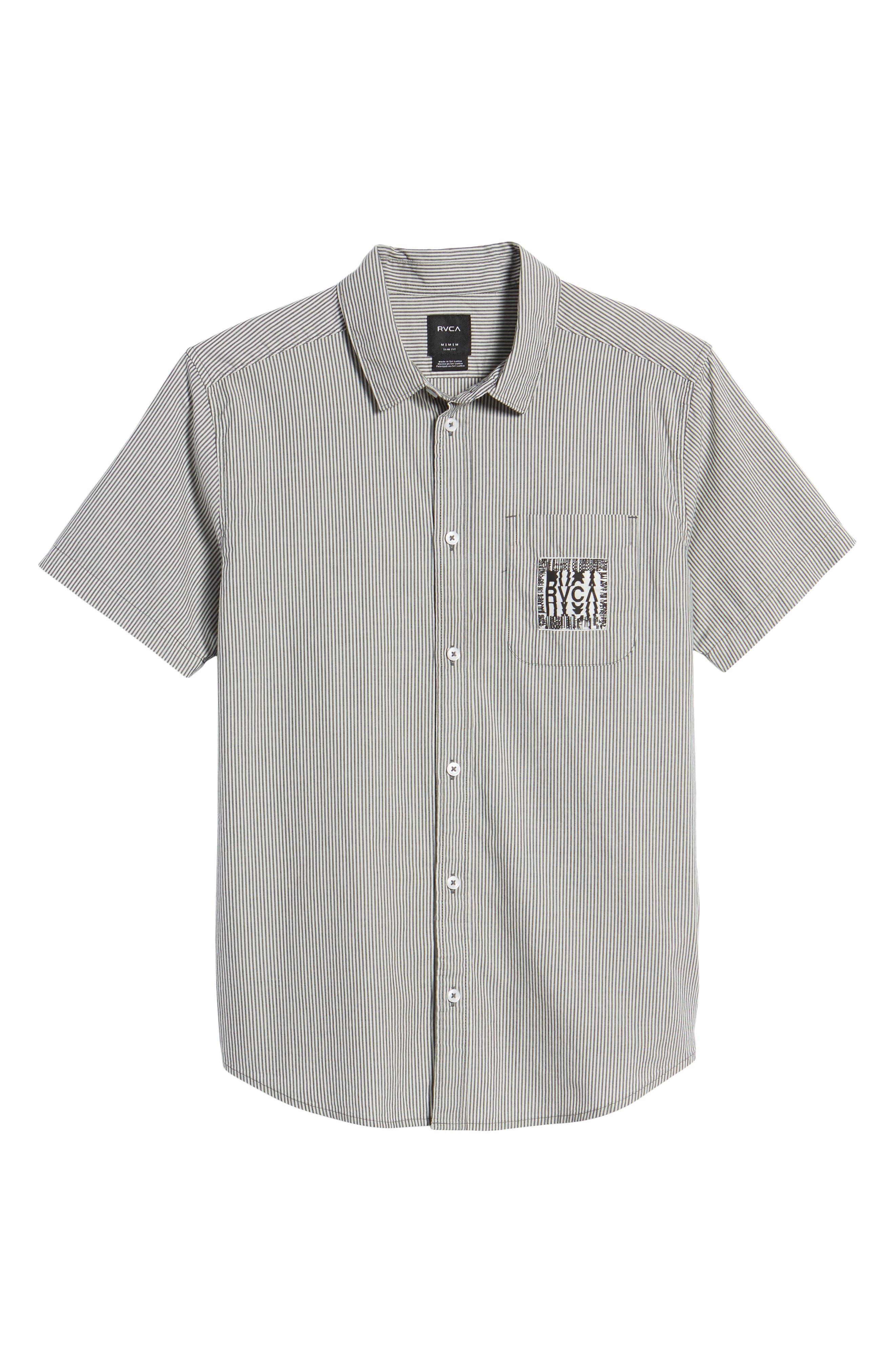 resort Disruption Woven Shirt,                             Alternate thumbnail 6, color,                             001