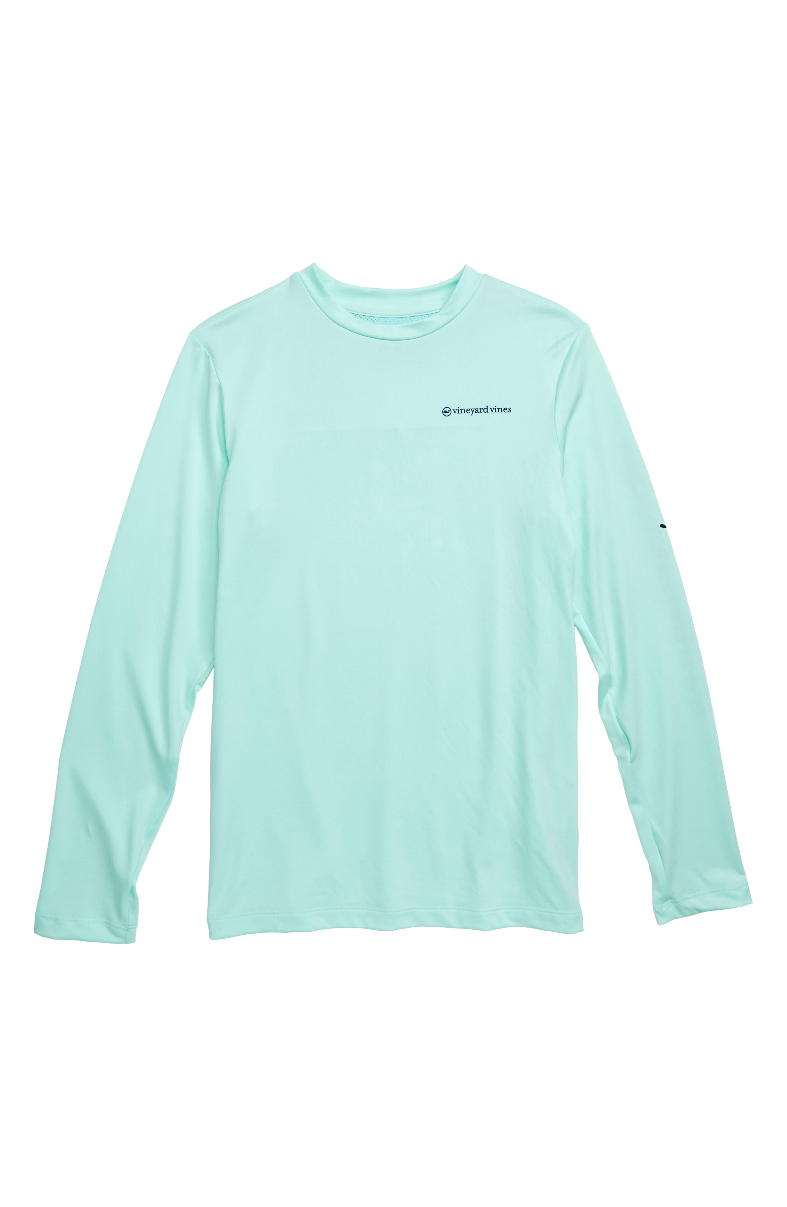 Long Sleeve Vented Boating T-Shirt,                         Main,                         color, SEA SPLASH