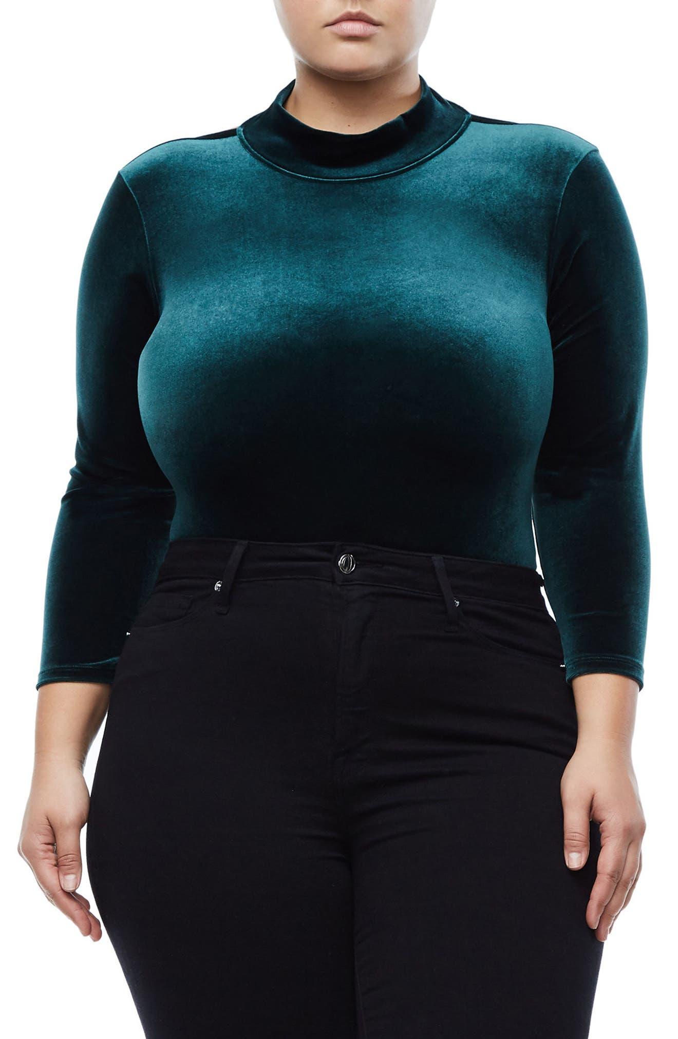 Backless Velvet Bodysuit,                             Main thumbnail 2, color,