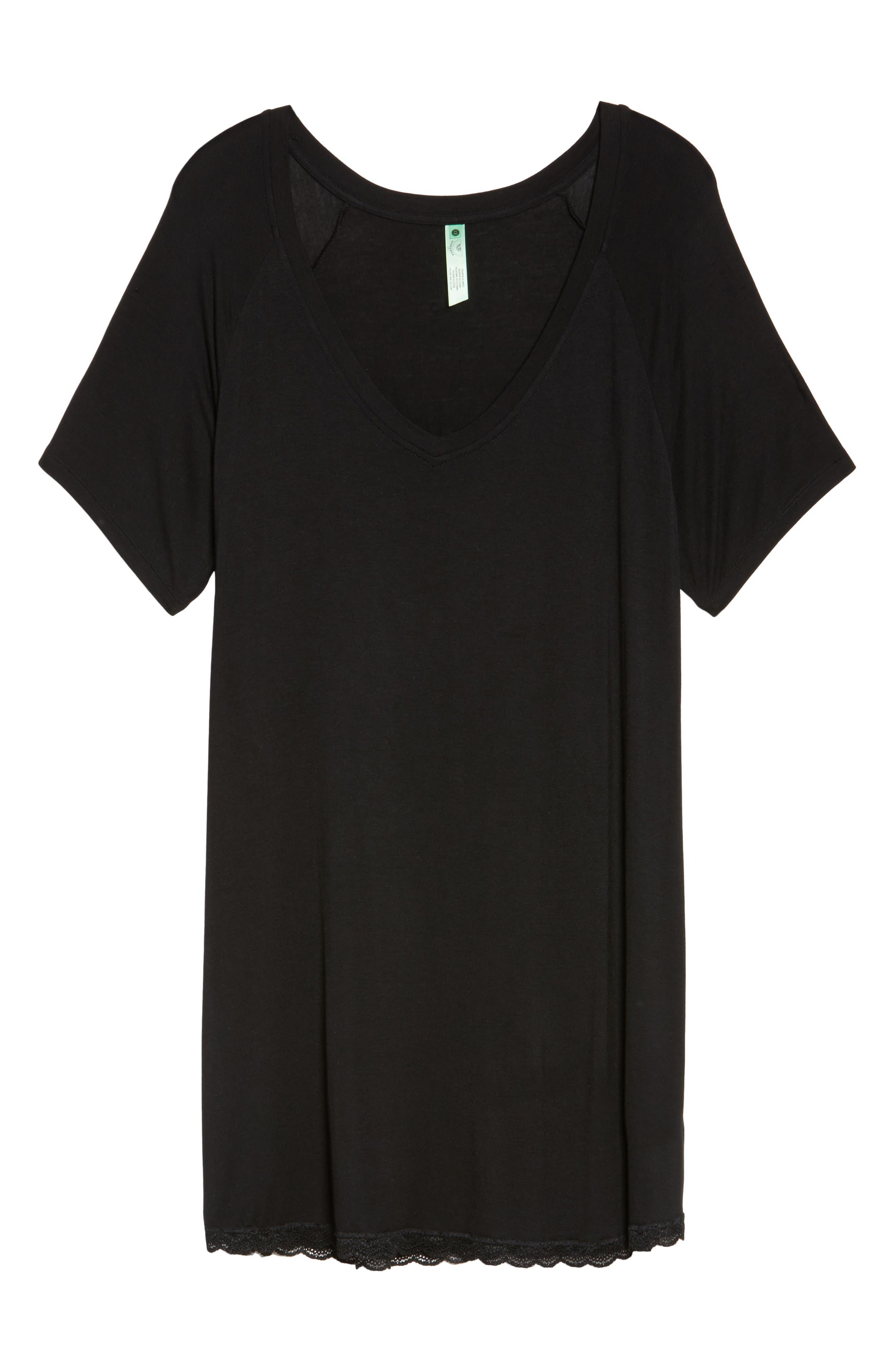 All American Sleep Shirt,                             Alternate thumbnail 6, color,                             BLACK