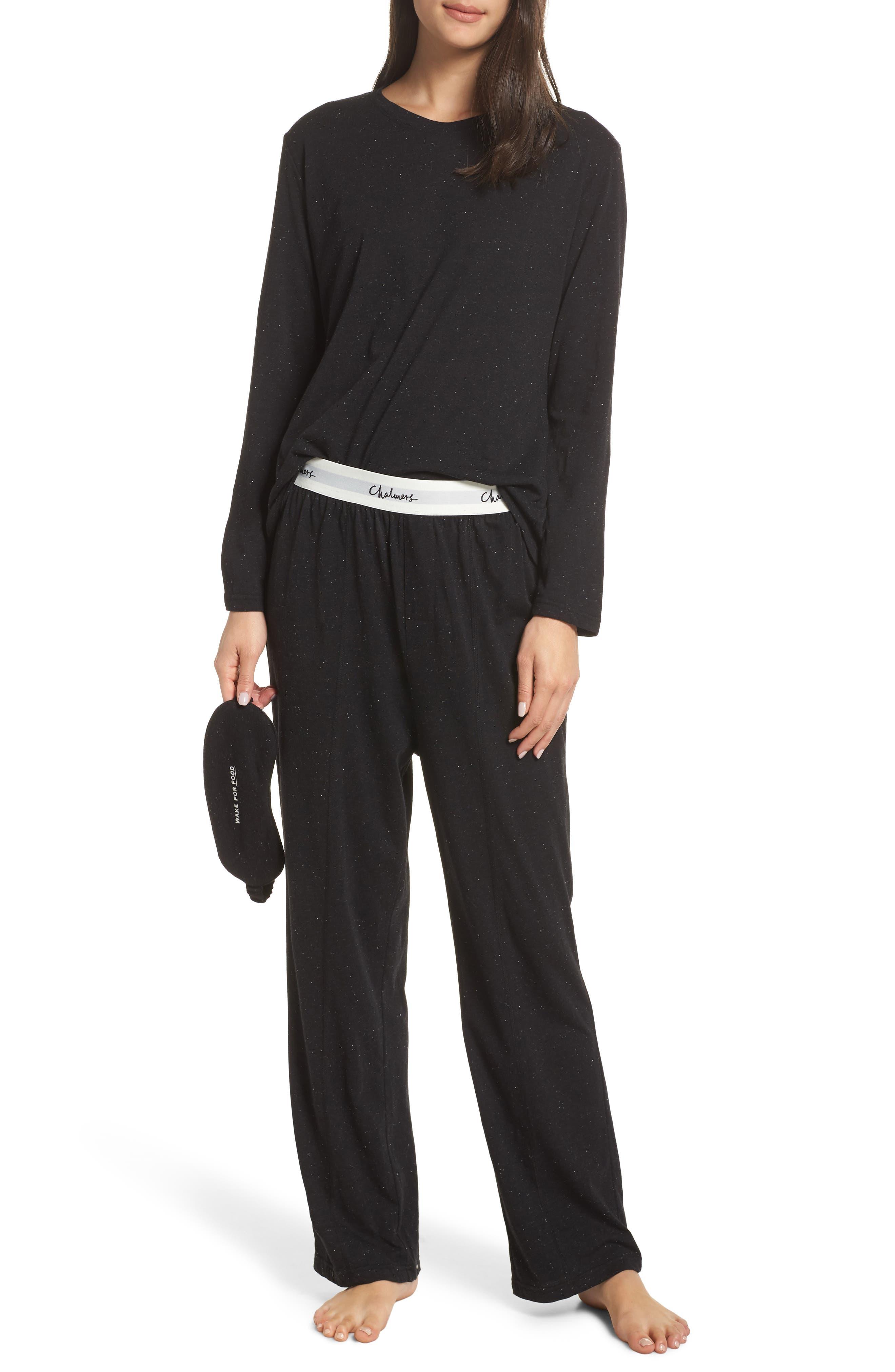 Chalmers Milly Pajamas & Sleep Mask Set, Grey
