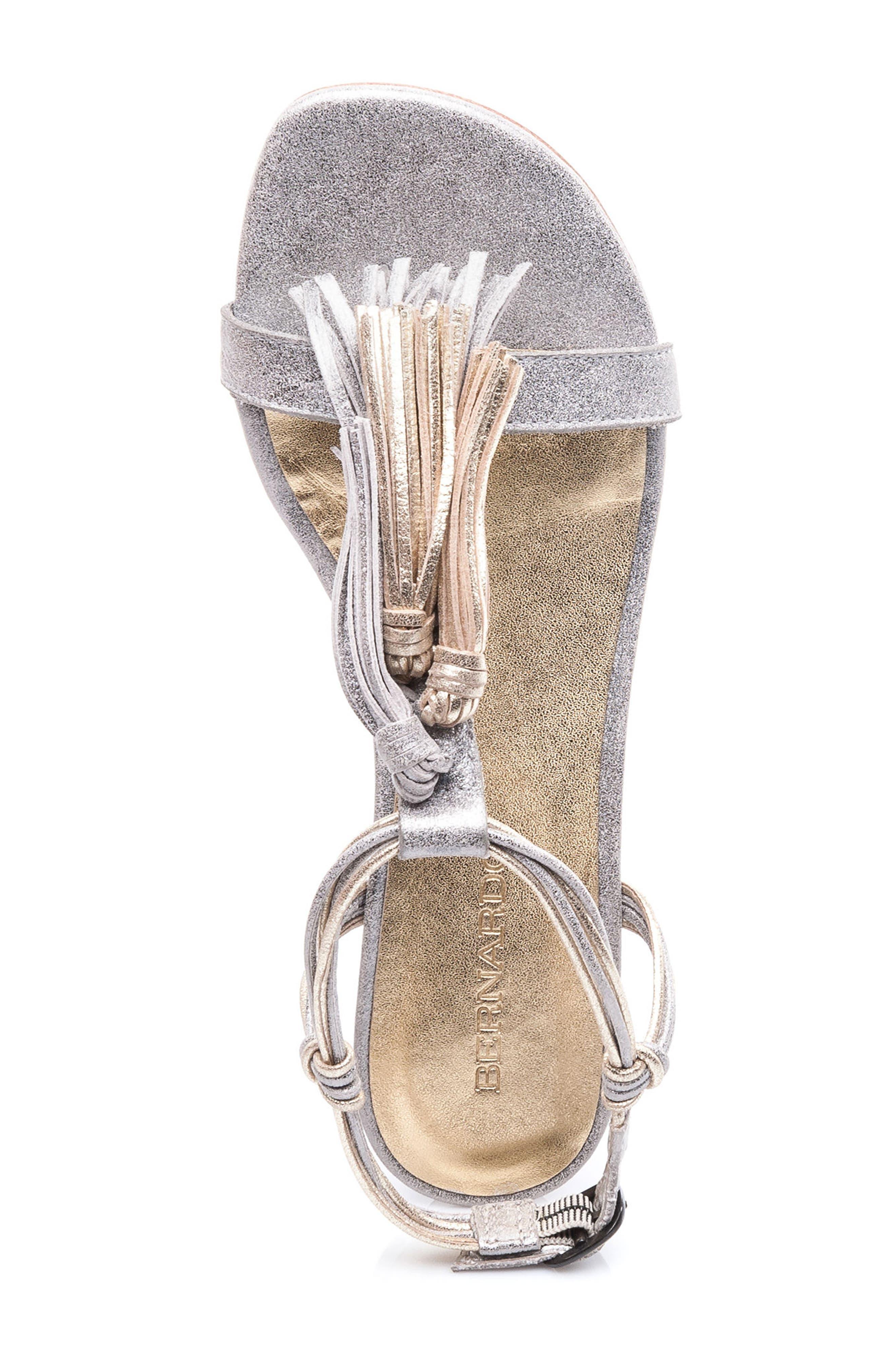 Footwear Court Fringe Leather Sandal,                             Alternate thumbnail 8, color,