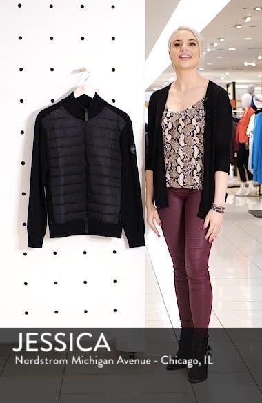 Hybridge Slim Fit Down Front Knit Jacket, sales video thumbnail