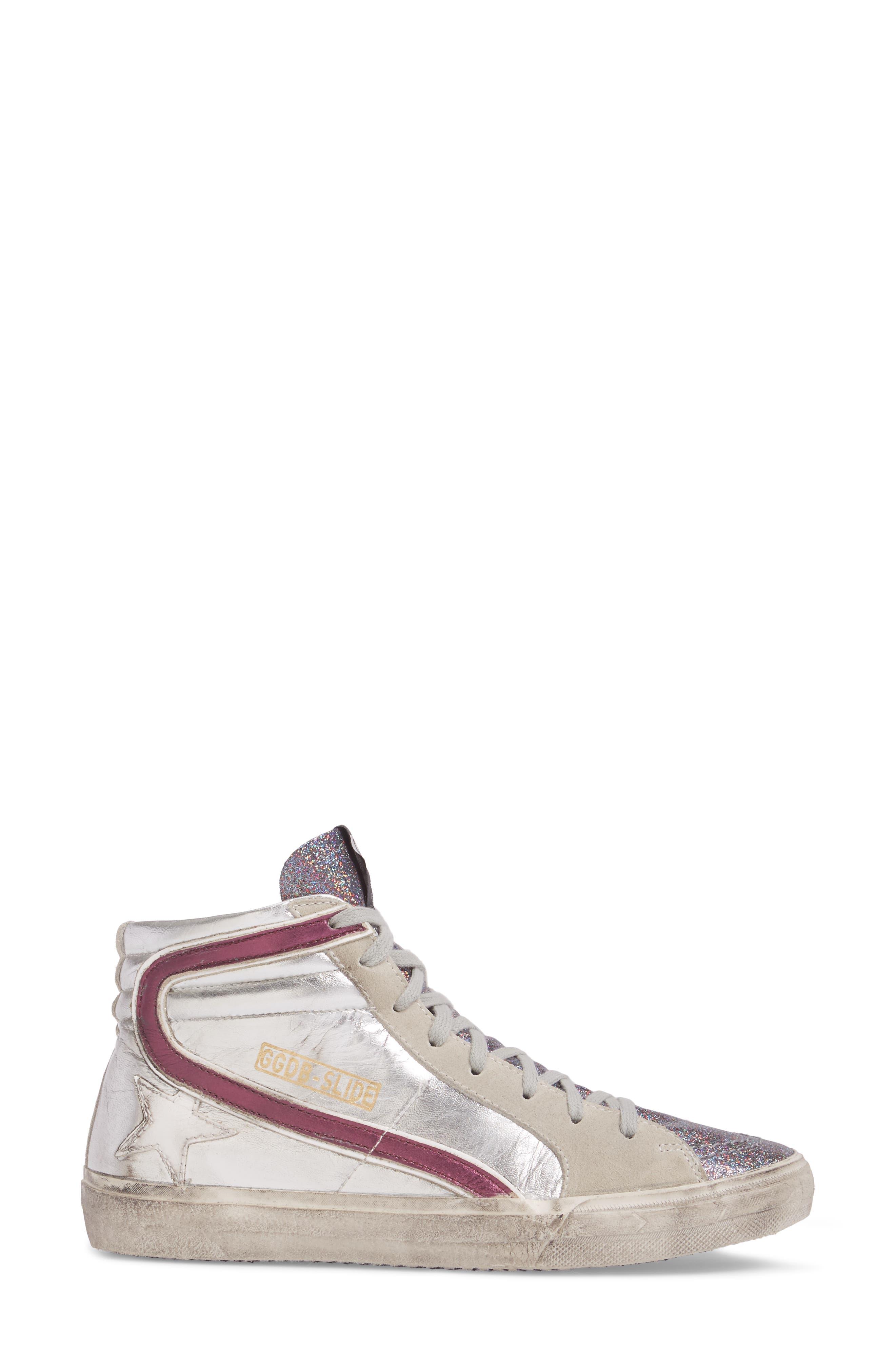 Slide High Top Sneaker,                             Alternate thumbnail 3, color,                             040