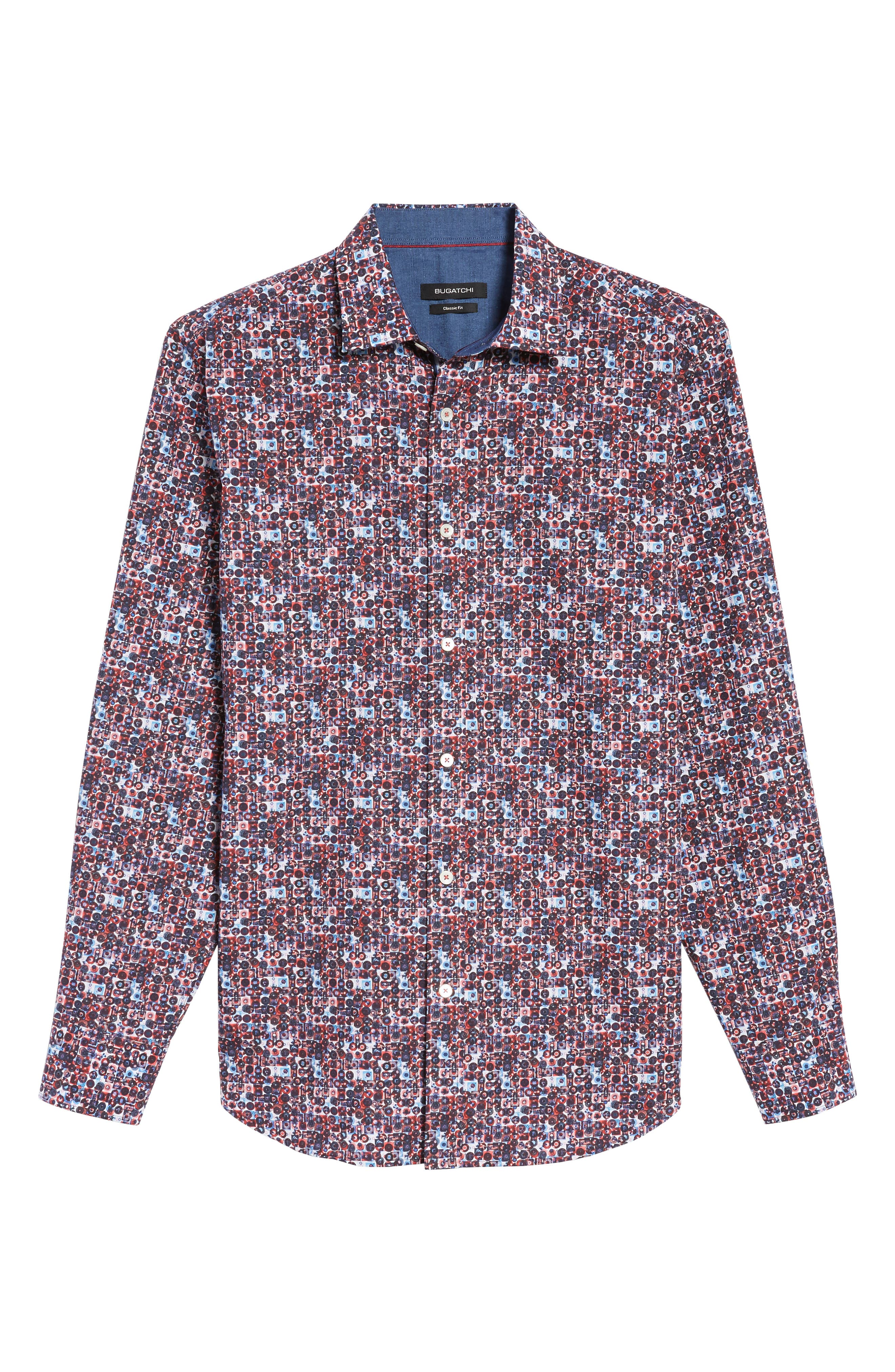 Classic Fit Print Sport Shirt,                             Alternate thumbnail 6, color,                             671