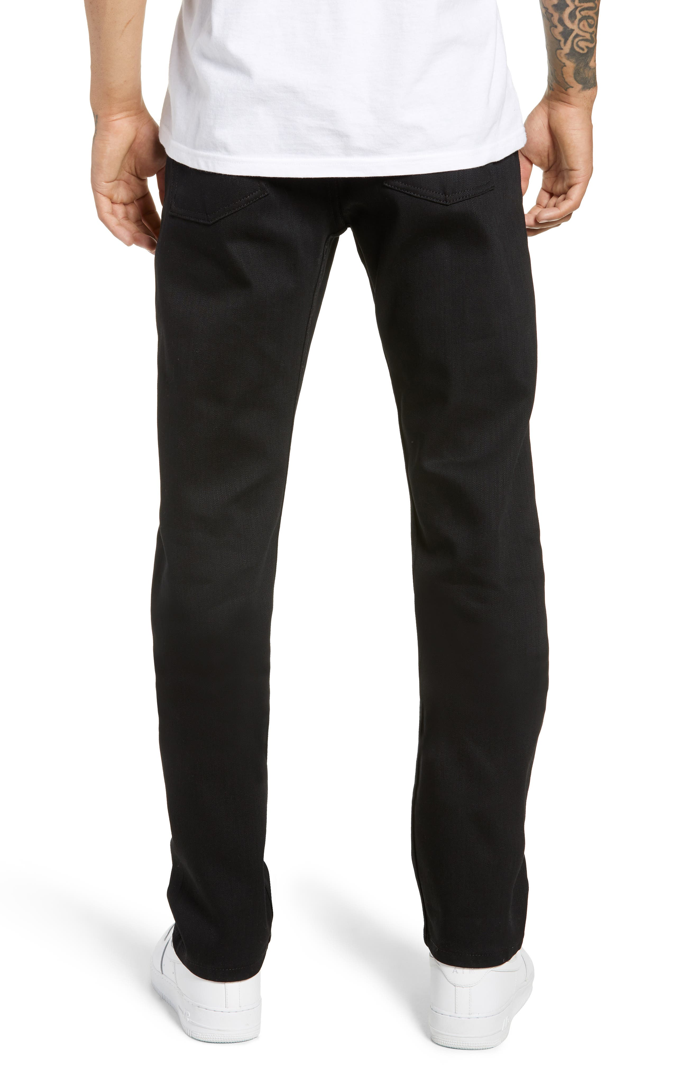 Weird Guy Slim Fit Jeans,                             Alternate thumbnail 2, color,                             BLACK POWER STRETCH