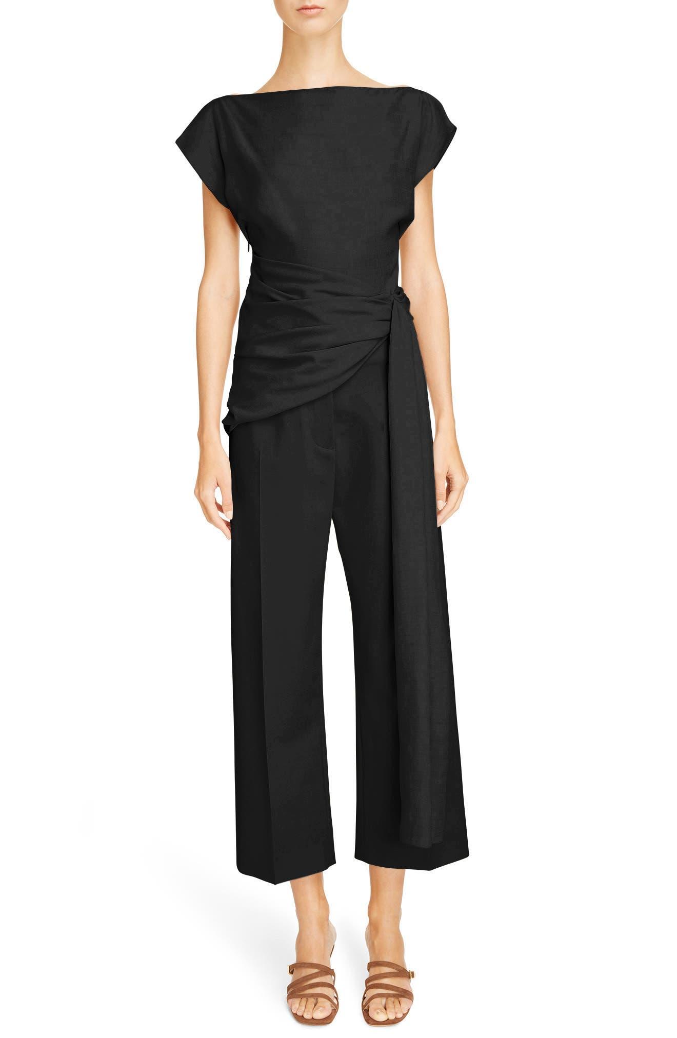 Le Pantalon Droit High Waist Crop Pants,                             Alternate thumbnail 6, color,                             250