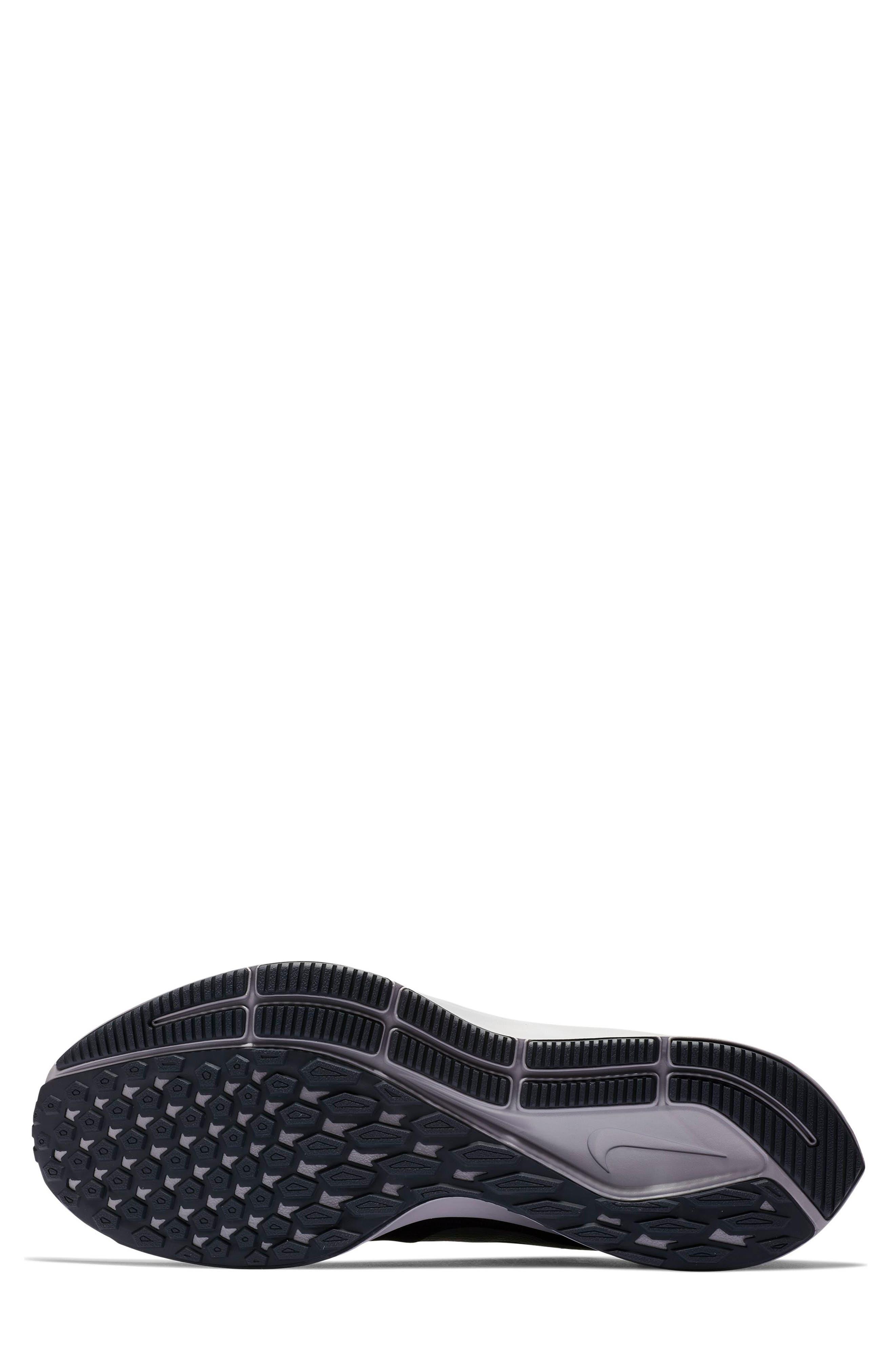 Air Zoom Pegasus 35 Running Shoe,                             Alternate thumbnail 4, color,                             BLACK/ PEWTER/ MOSS