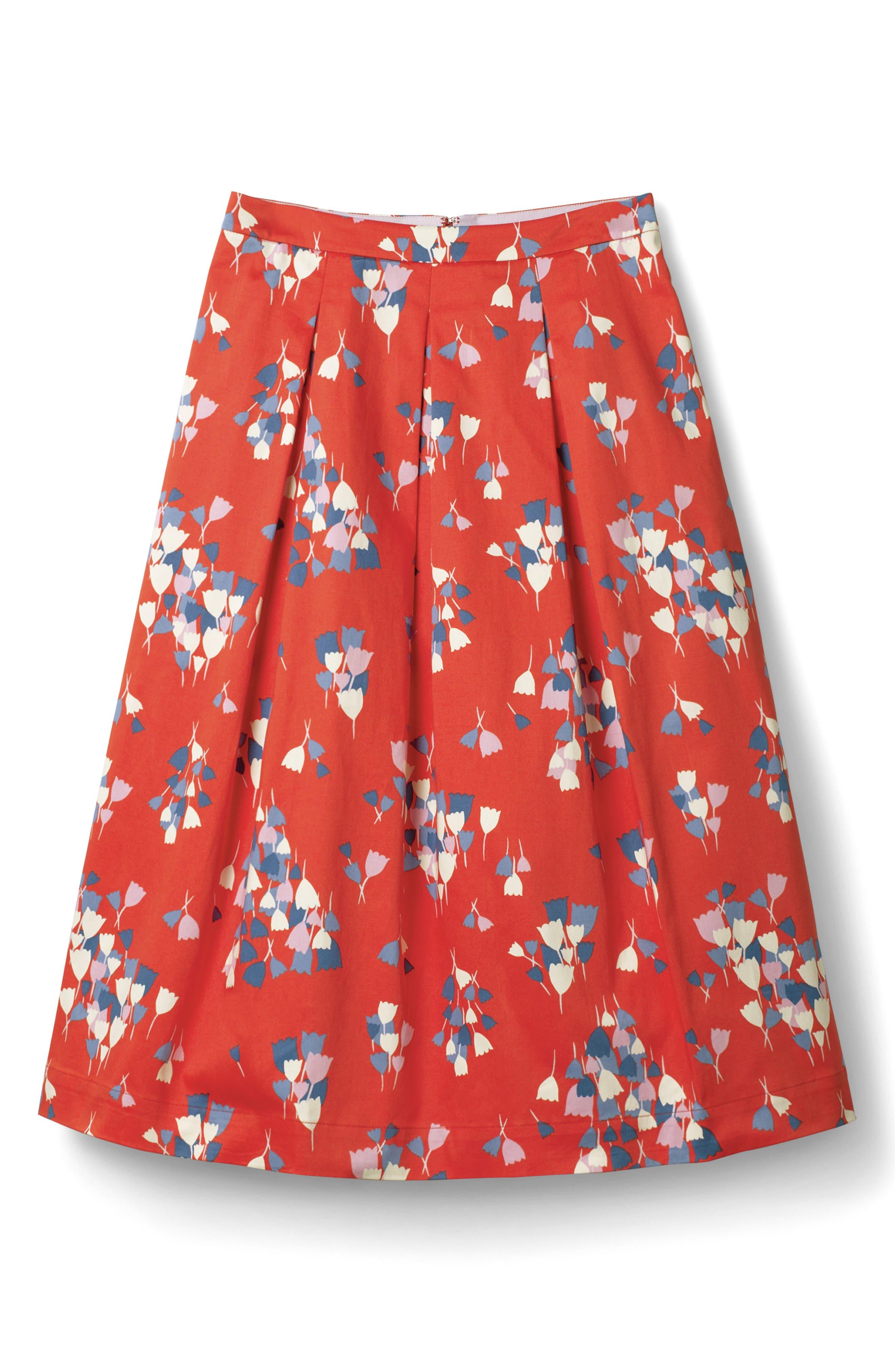 Lola Floral Flared Skirt,                             Main thumbnail 4, color,