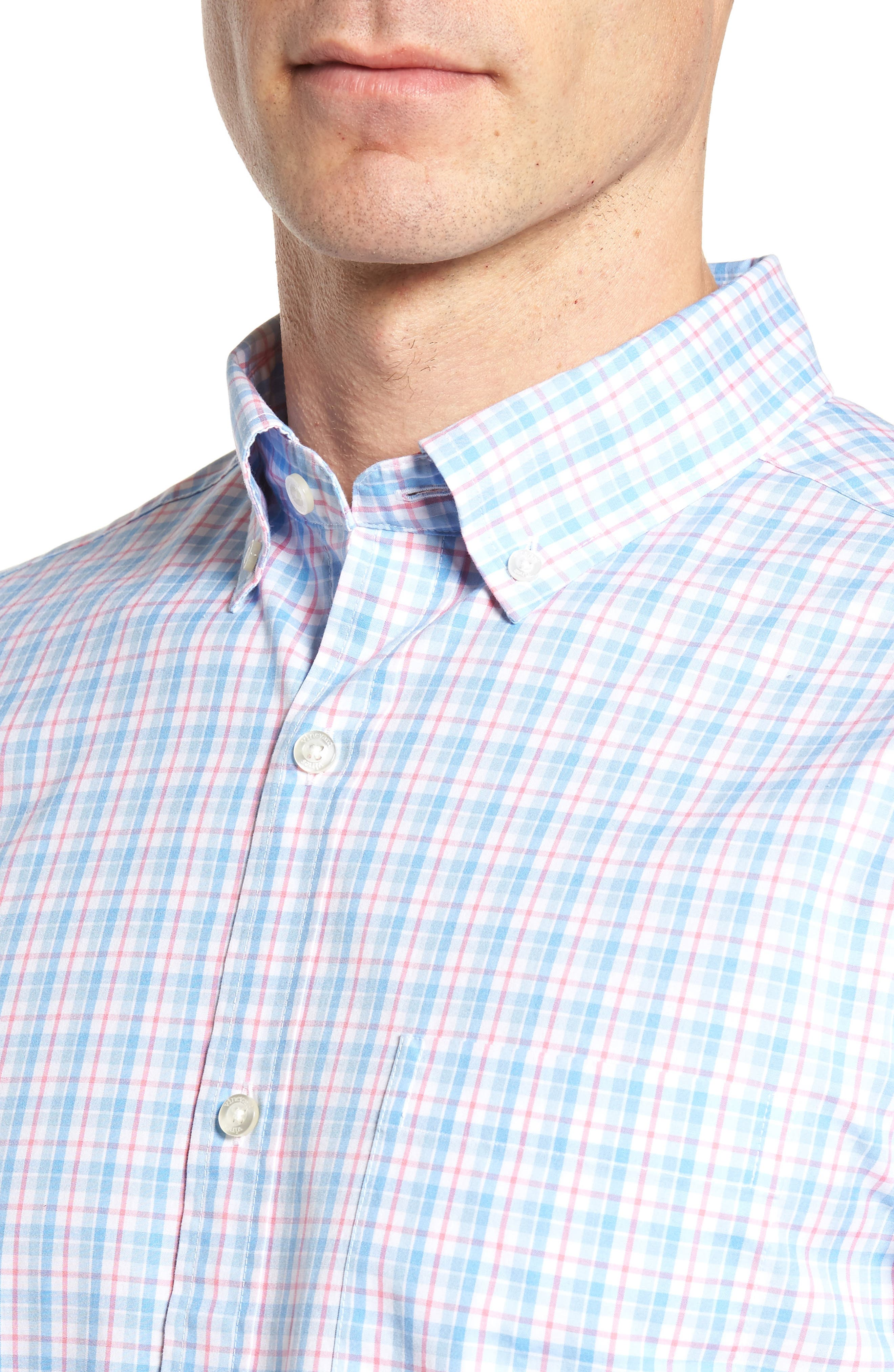 Off Island Classic Fit Plaid Sport Shirt,                             Alternate thumbnail 4, color,                             650