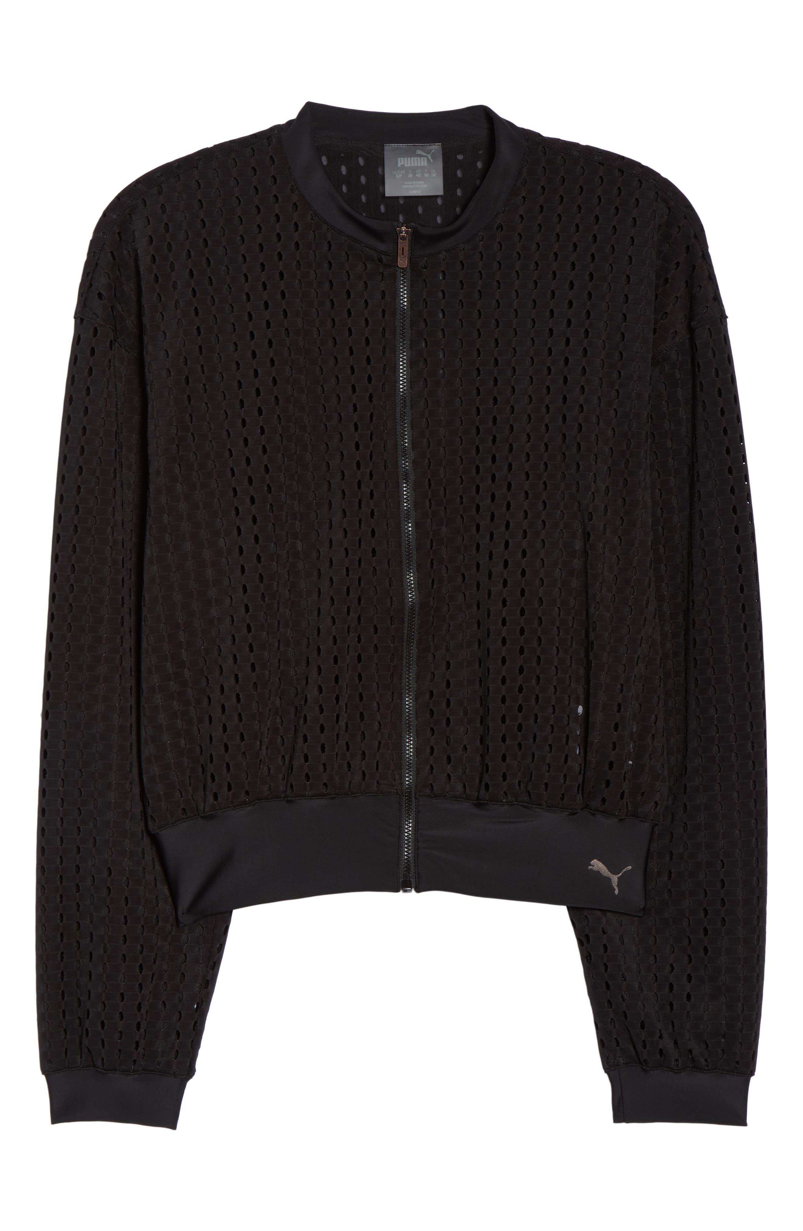 Luxe Jacket,                             Alternate thumbnail 7, color,                             PUMA BLACK