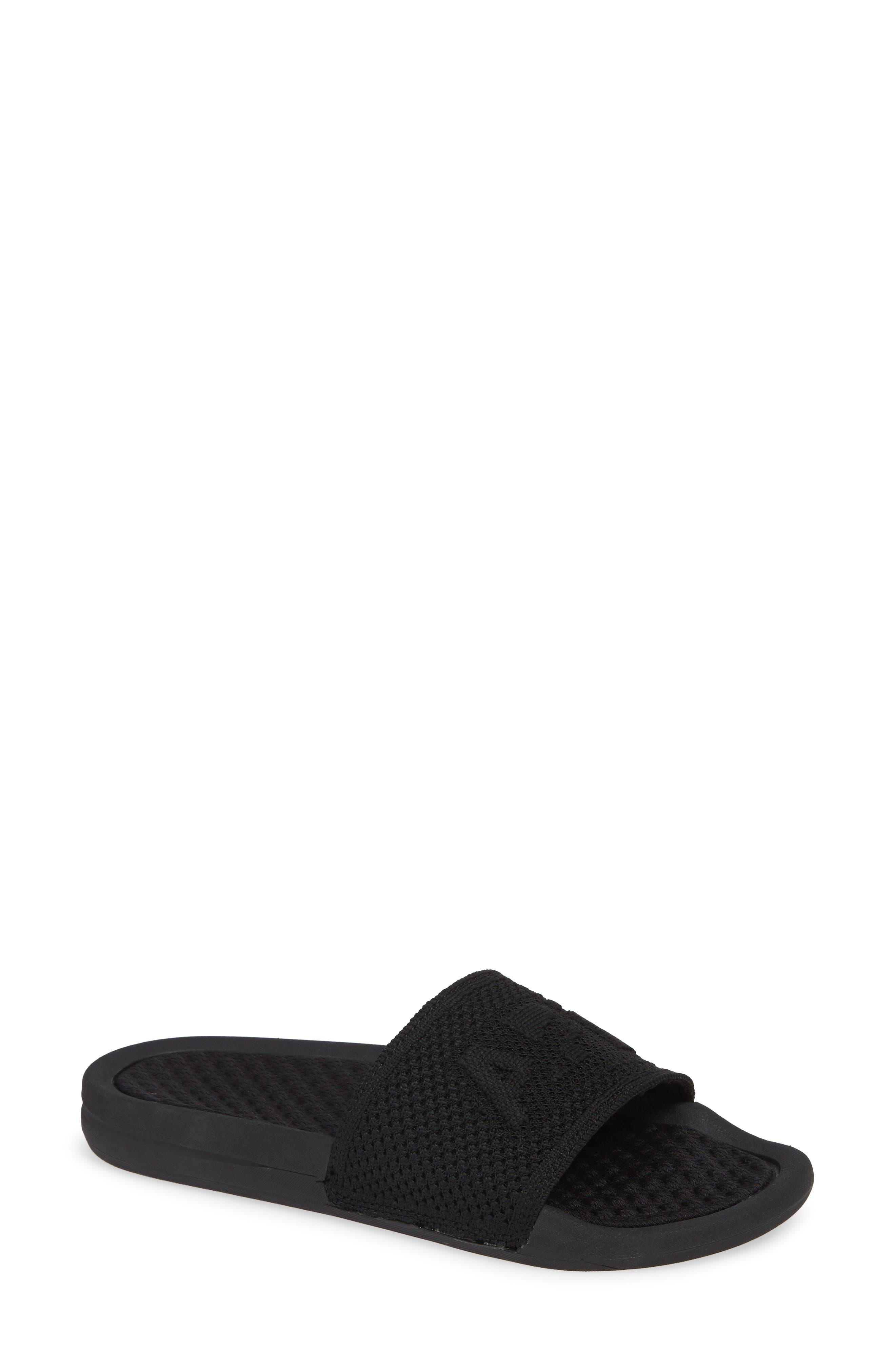 Big Logo Techloom Slide Sandal, Main, color, BLACK