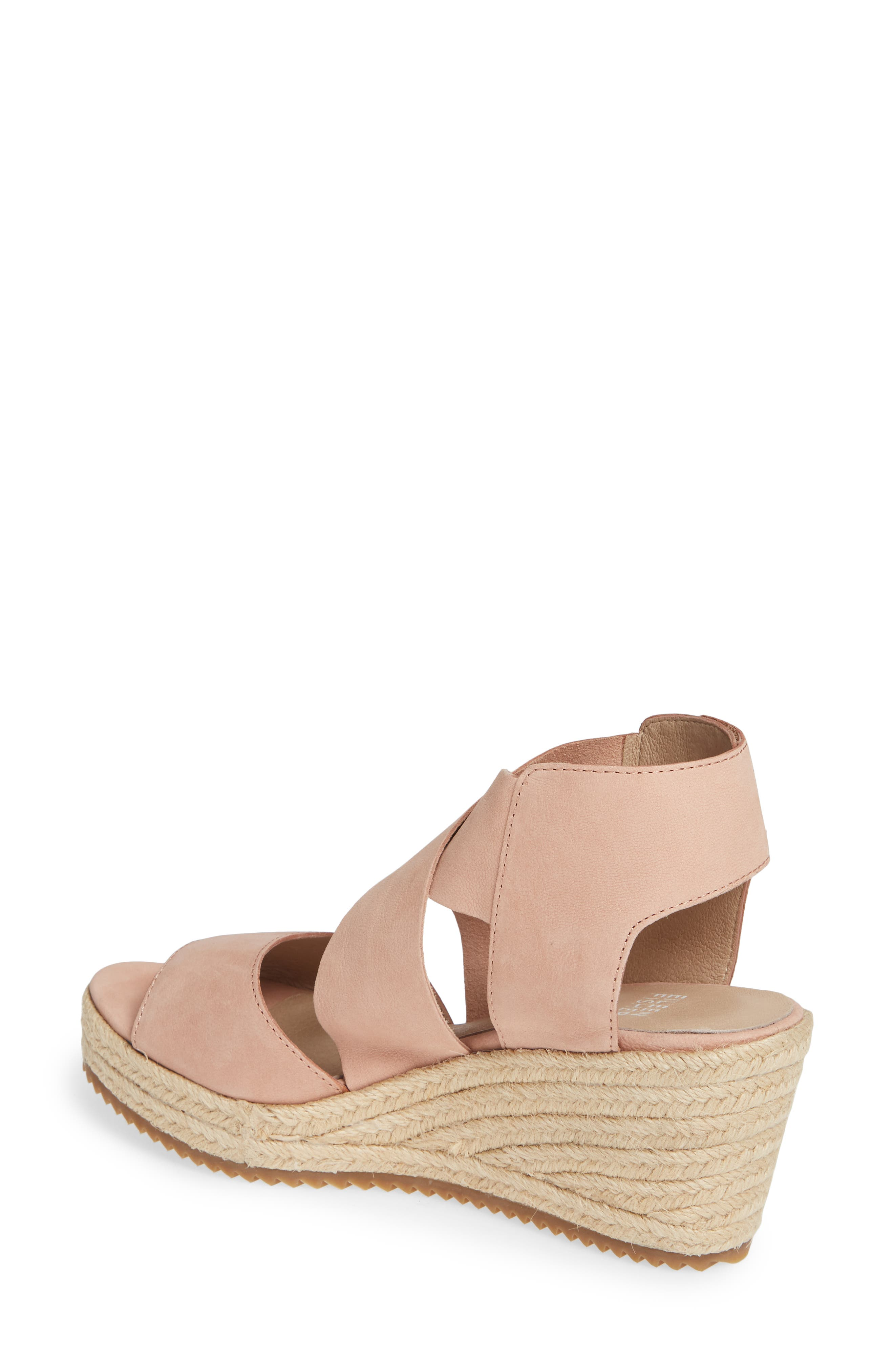'Willow' Espadrille Wedge Sandal,                             Alternate thumbnail 2, color,                             TOFFEE CREAM NUBUCK