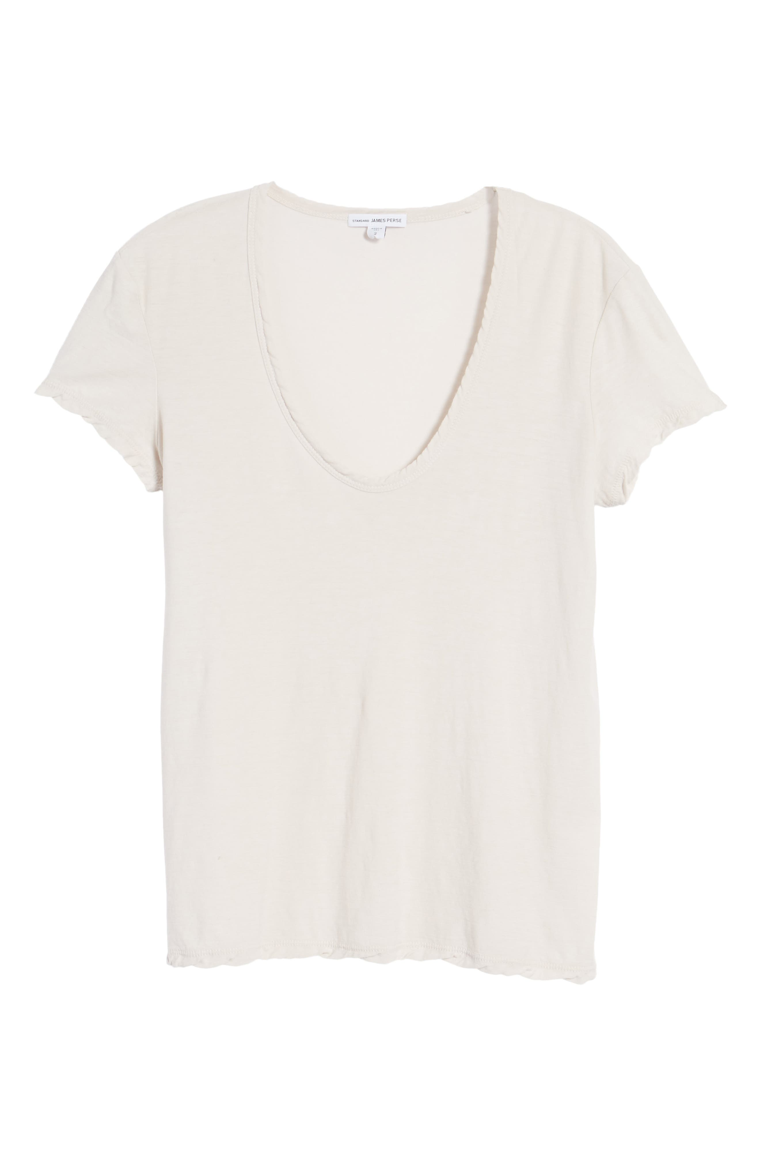 Deep V-Neck Tee,                             Alternate thumbnail 17, color,