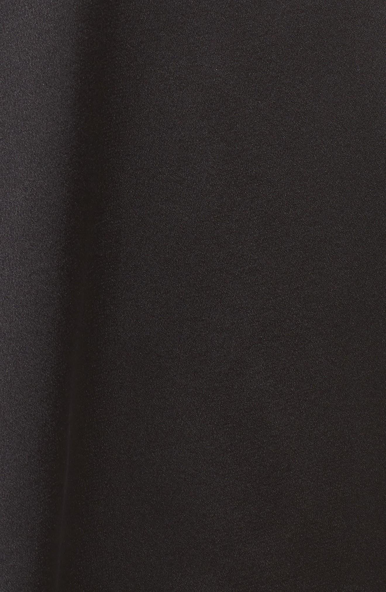 U-Neck Silk Top,                             Alternate thumbnail 5, color,                             001