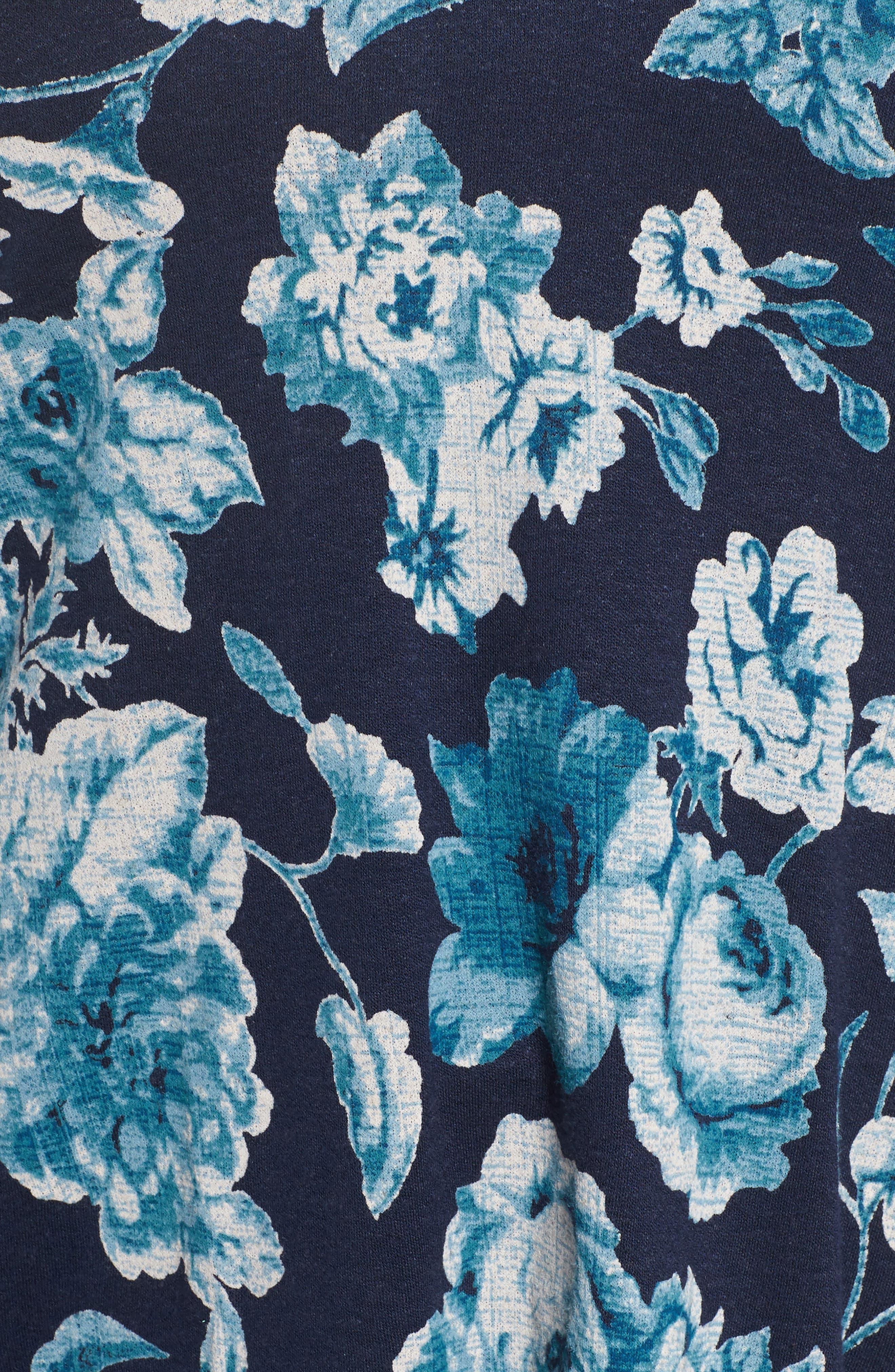 Encinitas Bell Sleeve Floral Top,                             Alternate thumbnail 5, color,