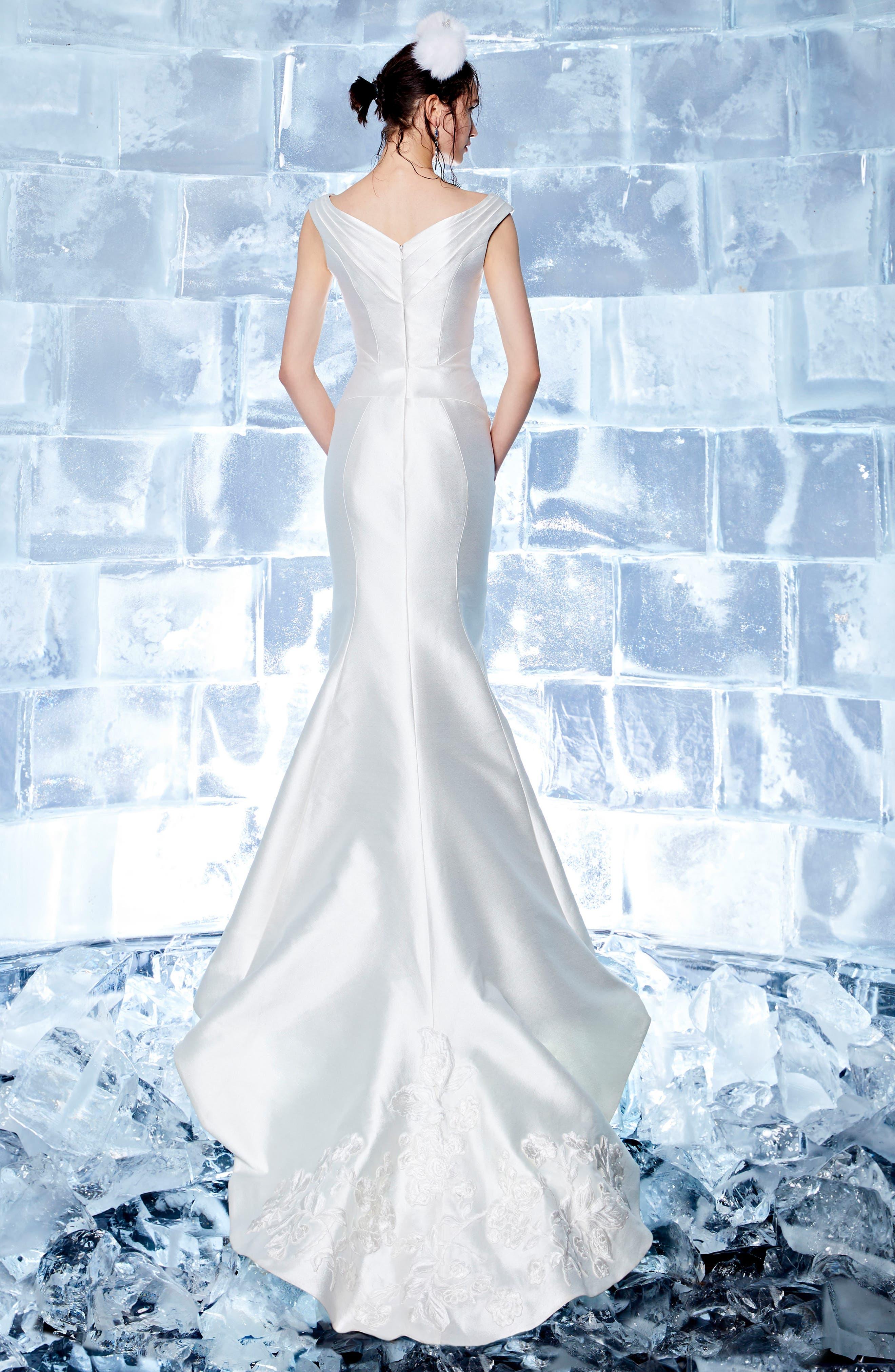 Blanche Duchess Satin Mermaid Gown,                             Alternate thumbnail 2, color,                             900