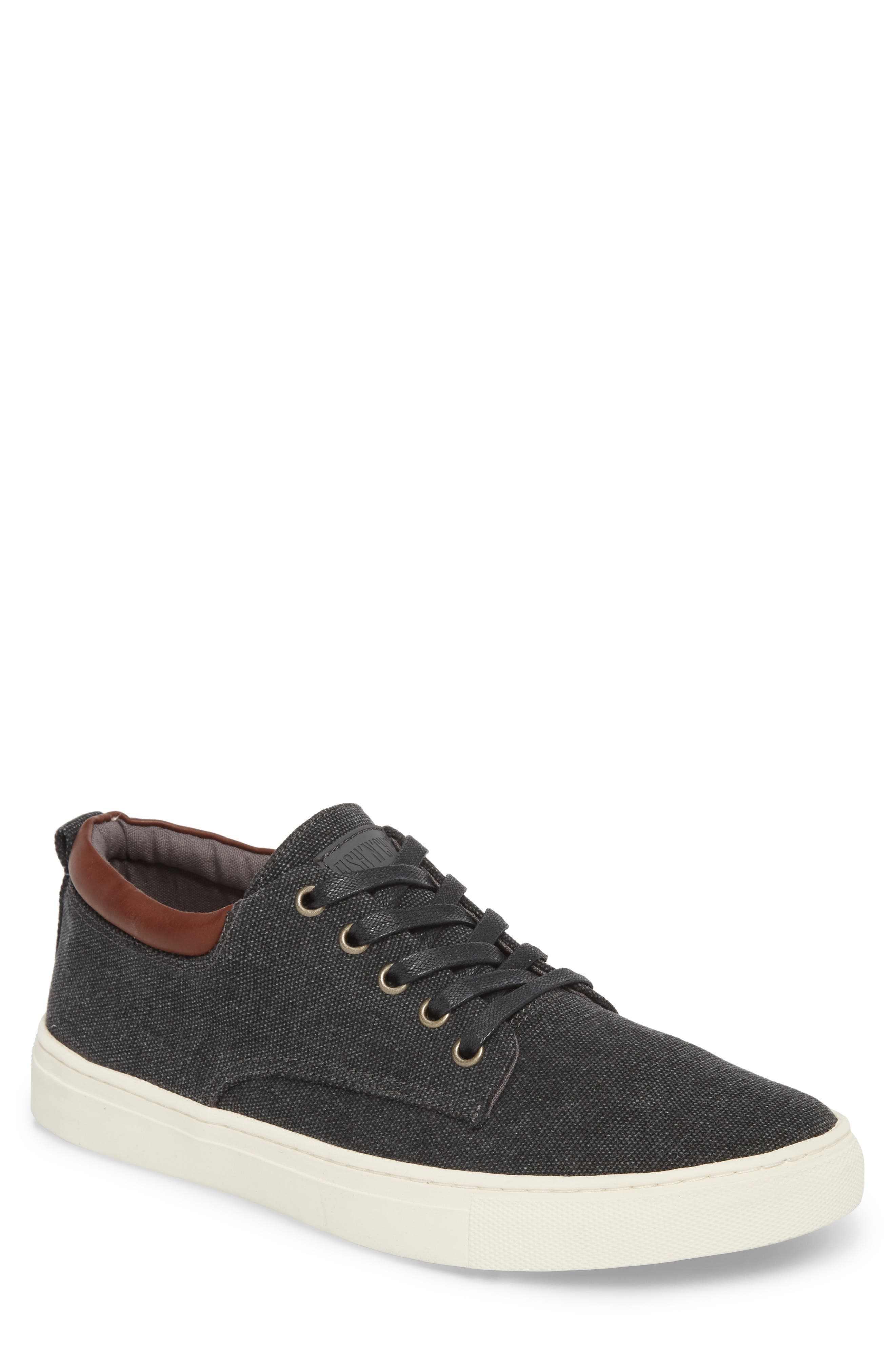 Fish 'N' Chips Hampton Low Top Sneaker,                             Main thumbnail 1, color,                             CHARCOAL FABRIC