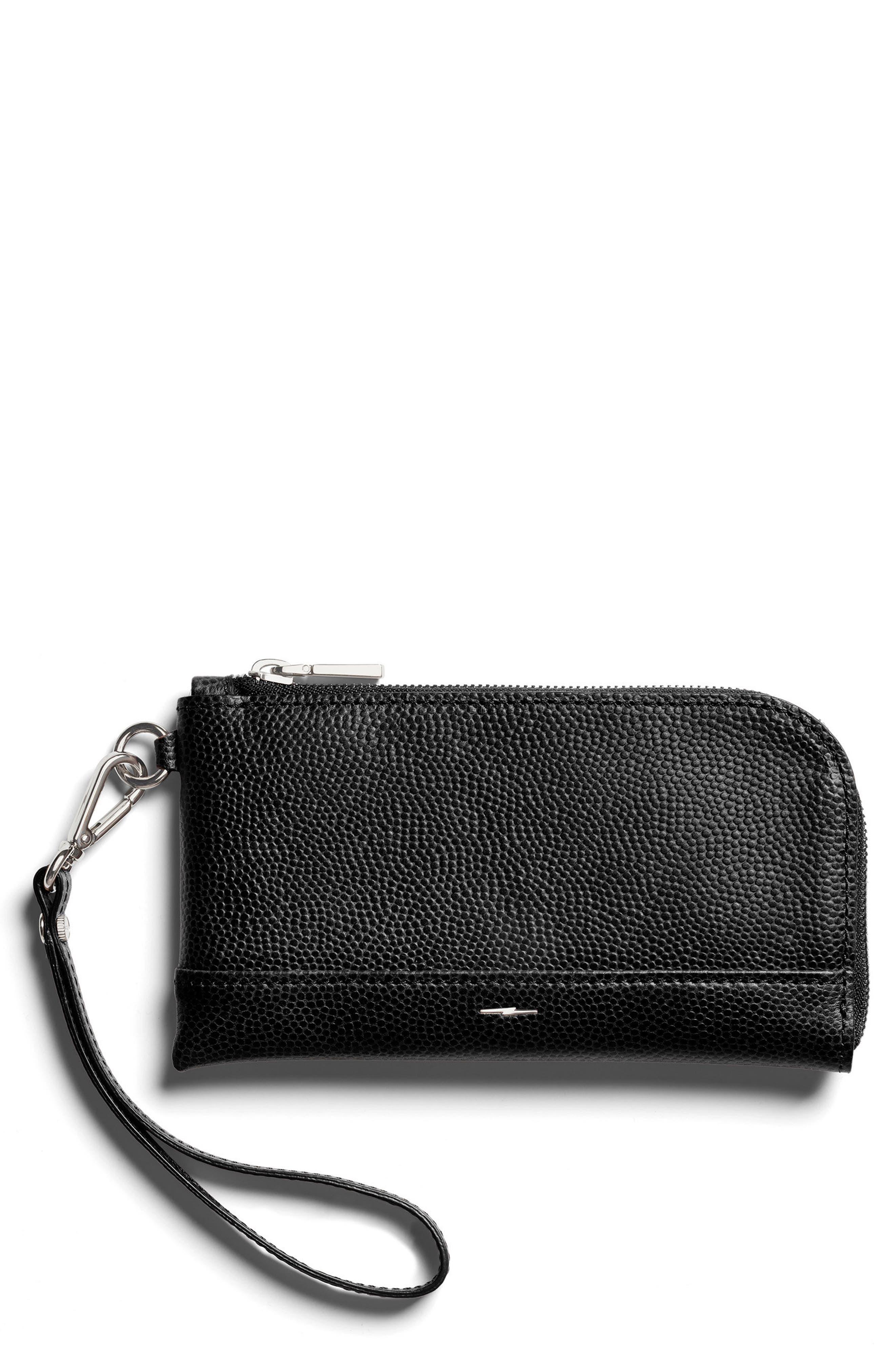 Latigo Leather Wristlet,                             Main thumbnail 1, color,                             001