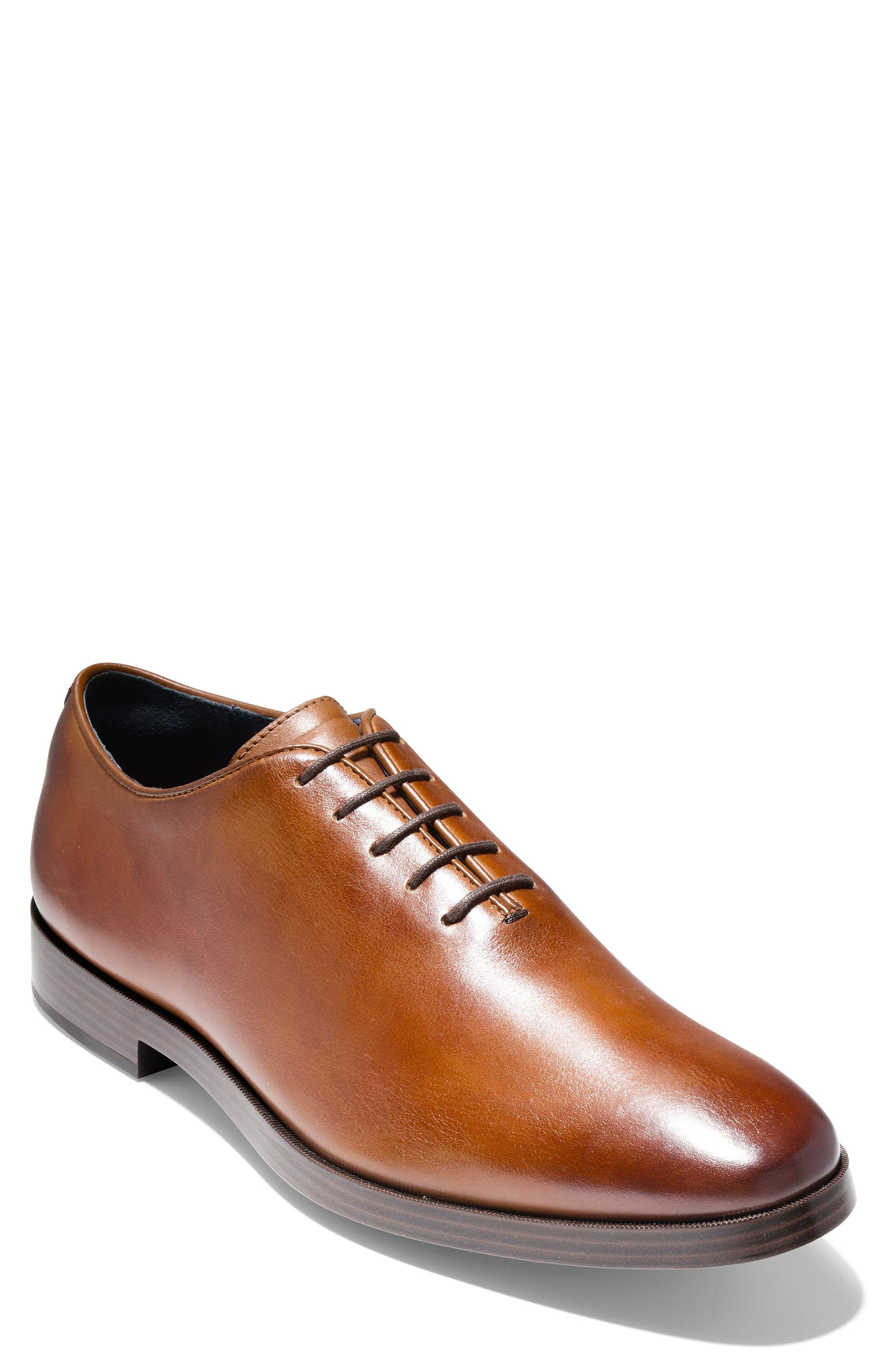 Cole Haan Jefferson Waterproof Wholecut Oxford- Brown