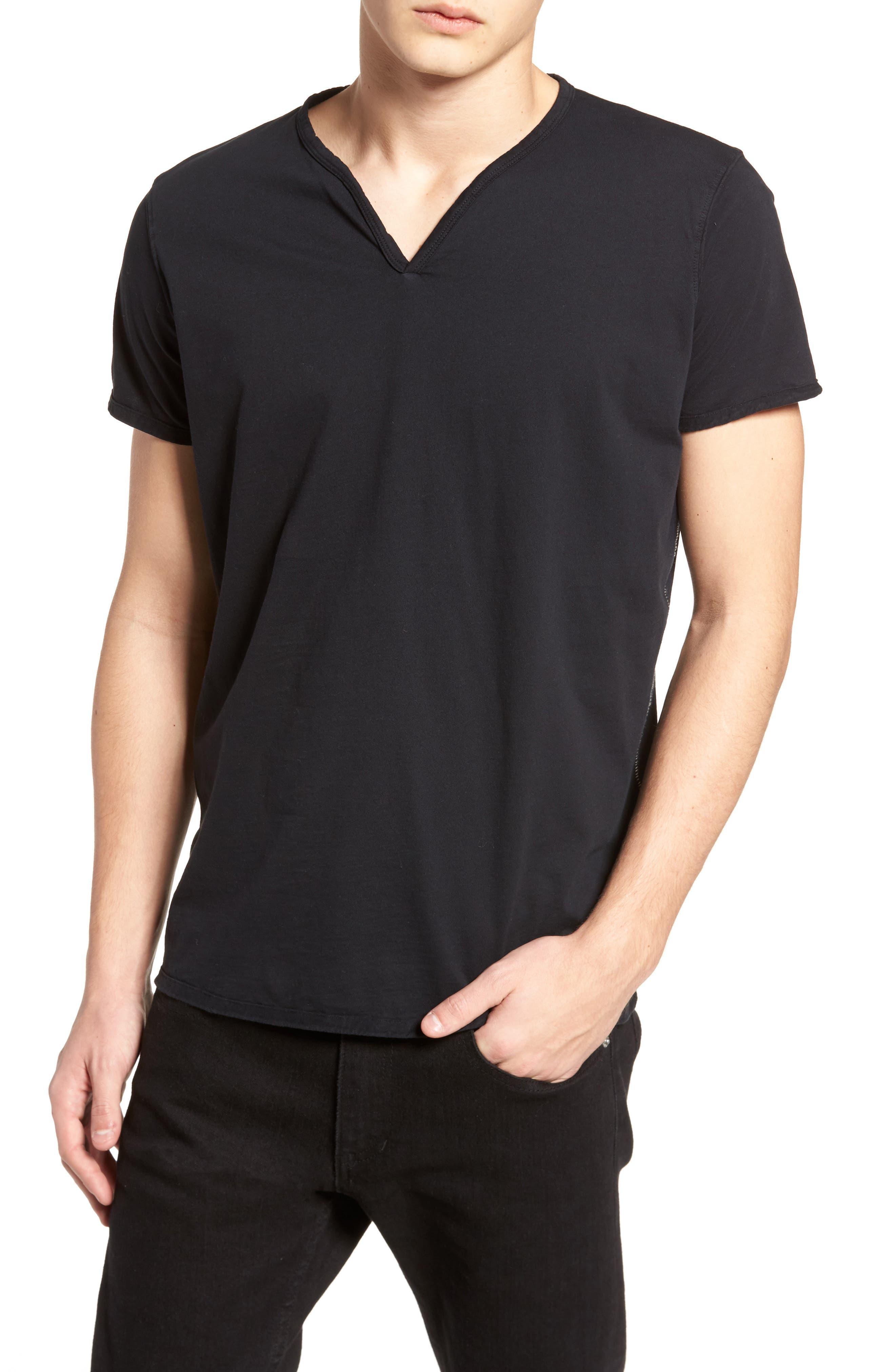 Notch Henley T-Shirt,                         Main,                         color, 001