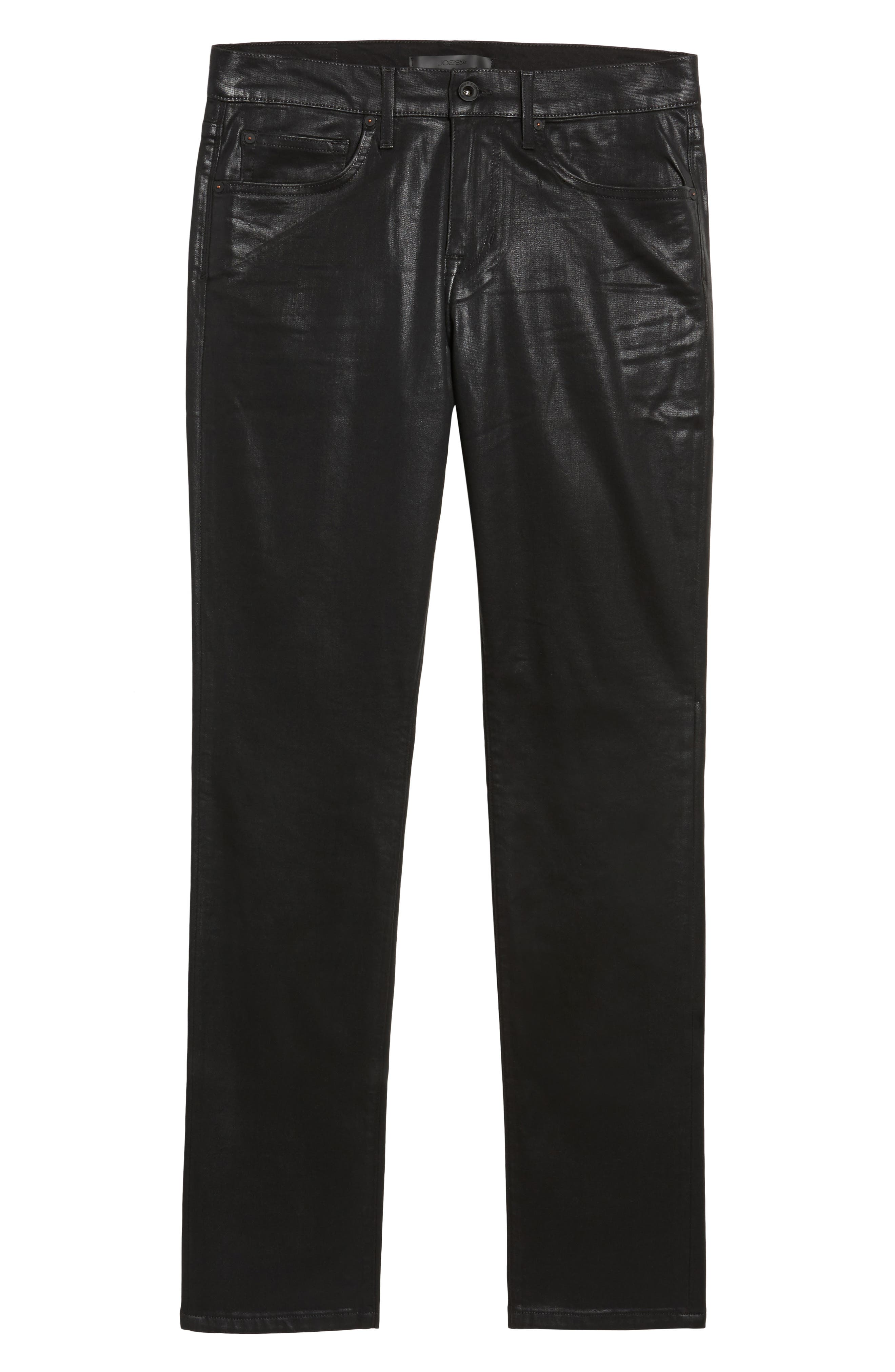 Coated Slim Fit Jeans,                             Alternate thumbnail 6, color,
