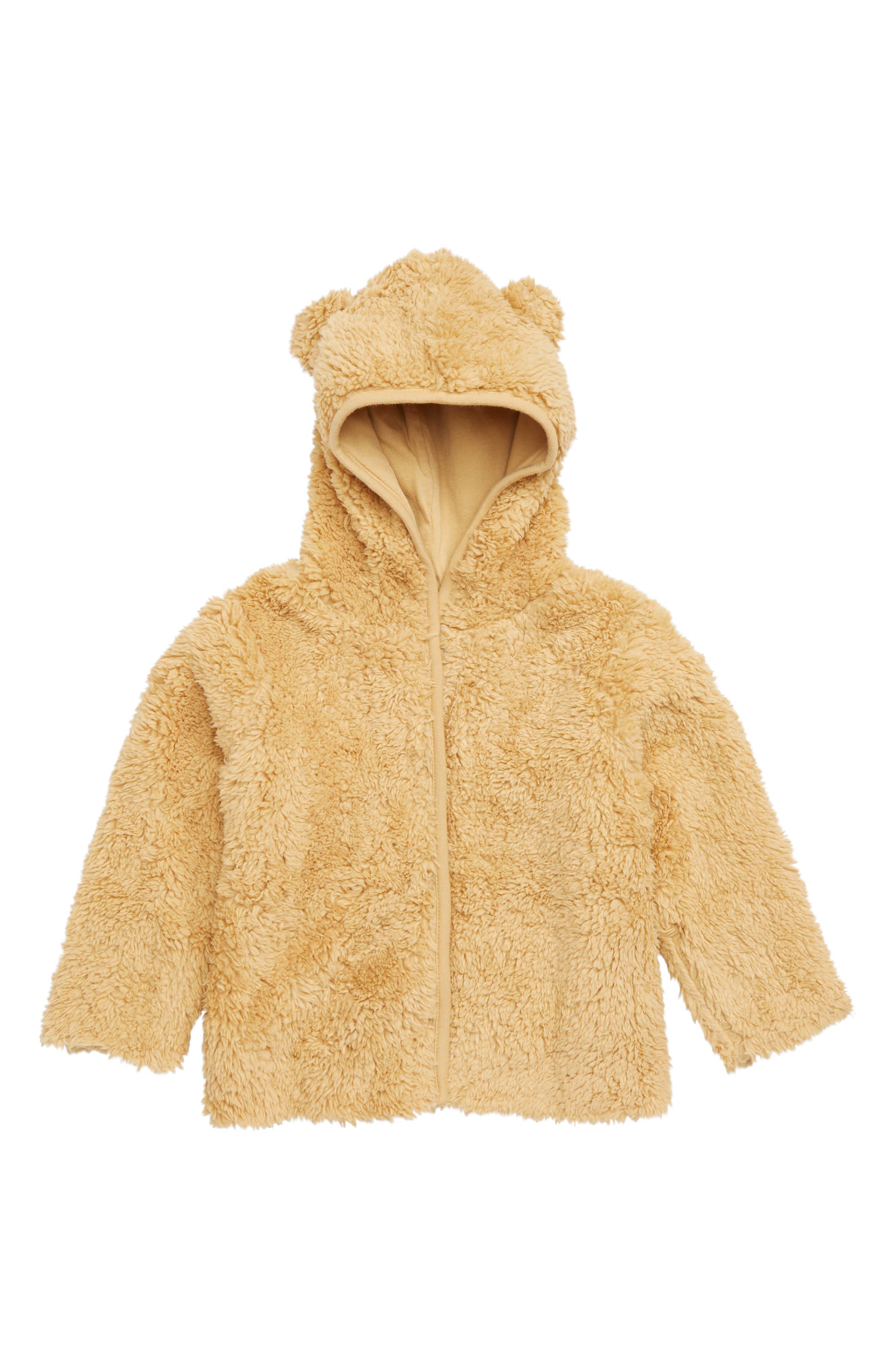 Cozy Bear Hoodie Jacket,                             Main thumbnail 1, color,                             TAN TAOS