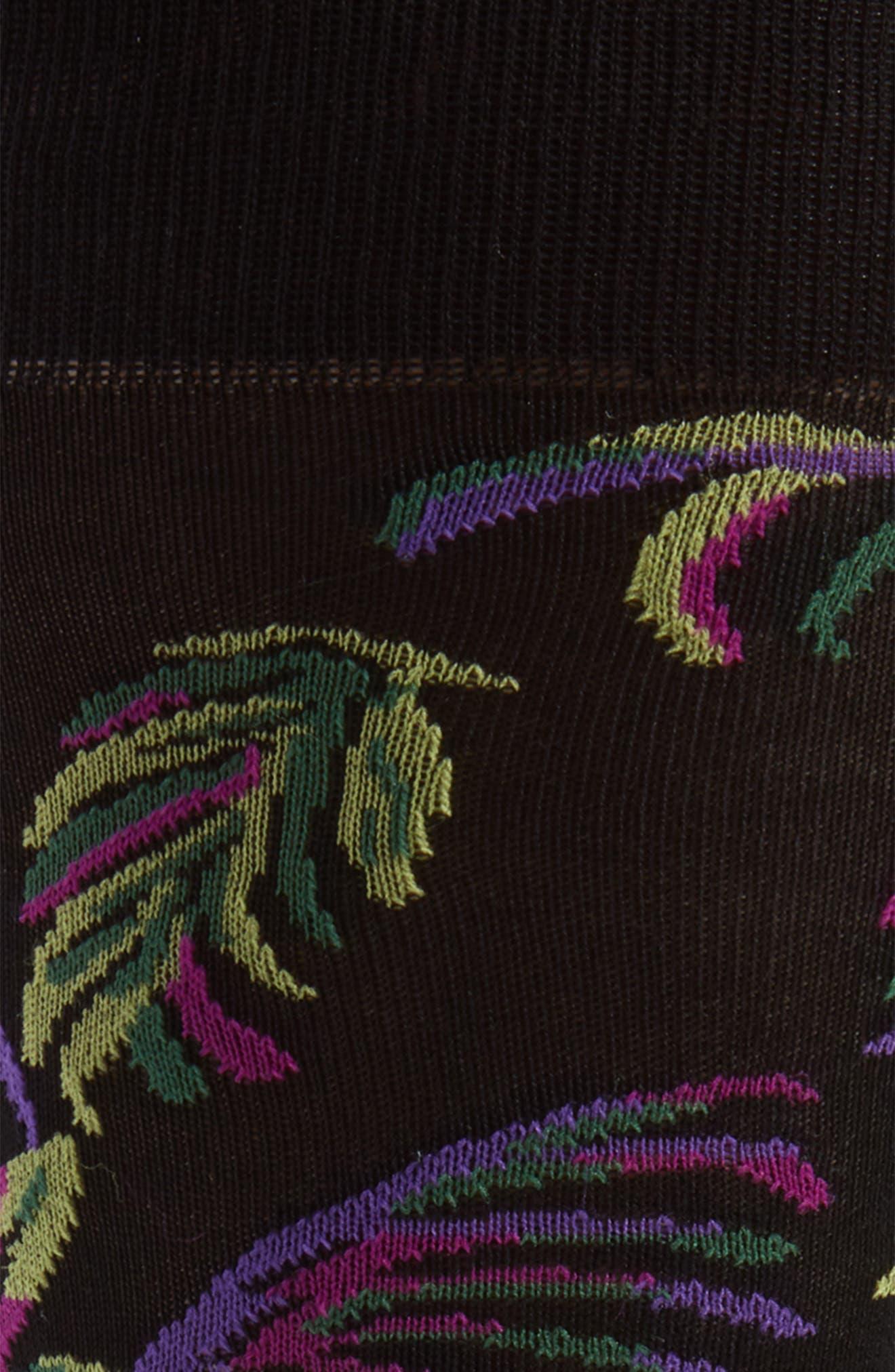 Tropical Crew Socks,                             Alternate thumbnail 2, color,                             BLACK