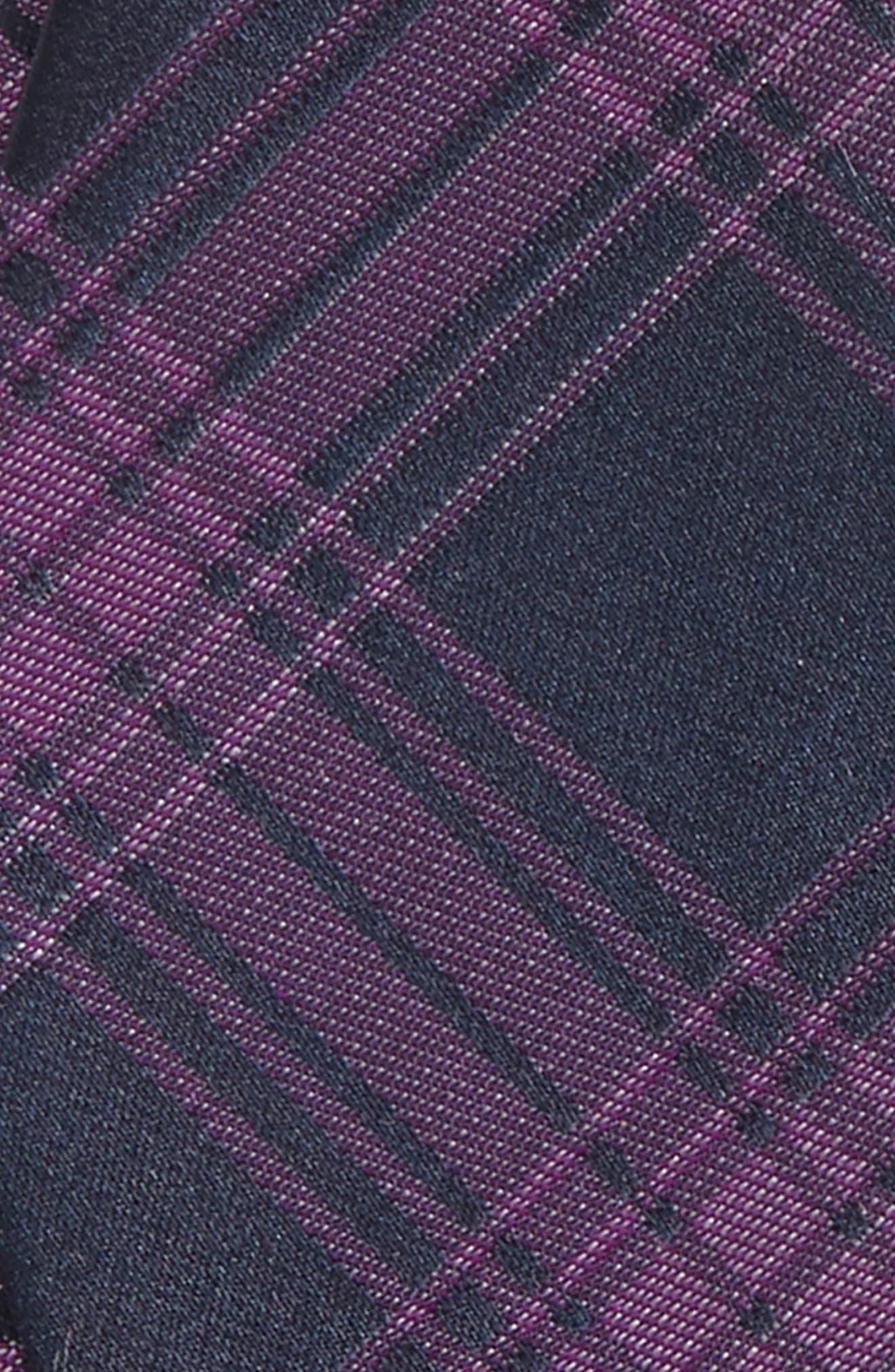 Windowpane Silk Bow Tie,                             Alternate thumbnail 5, color,
