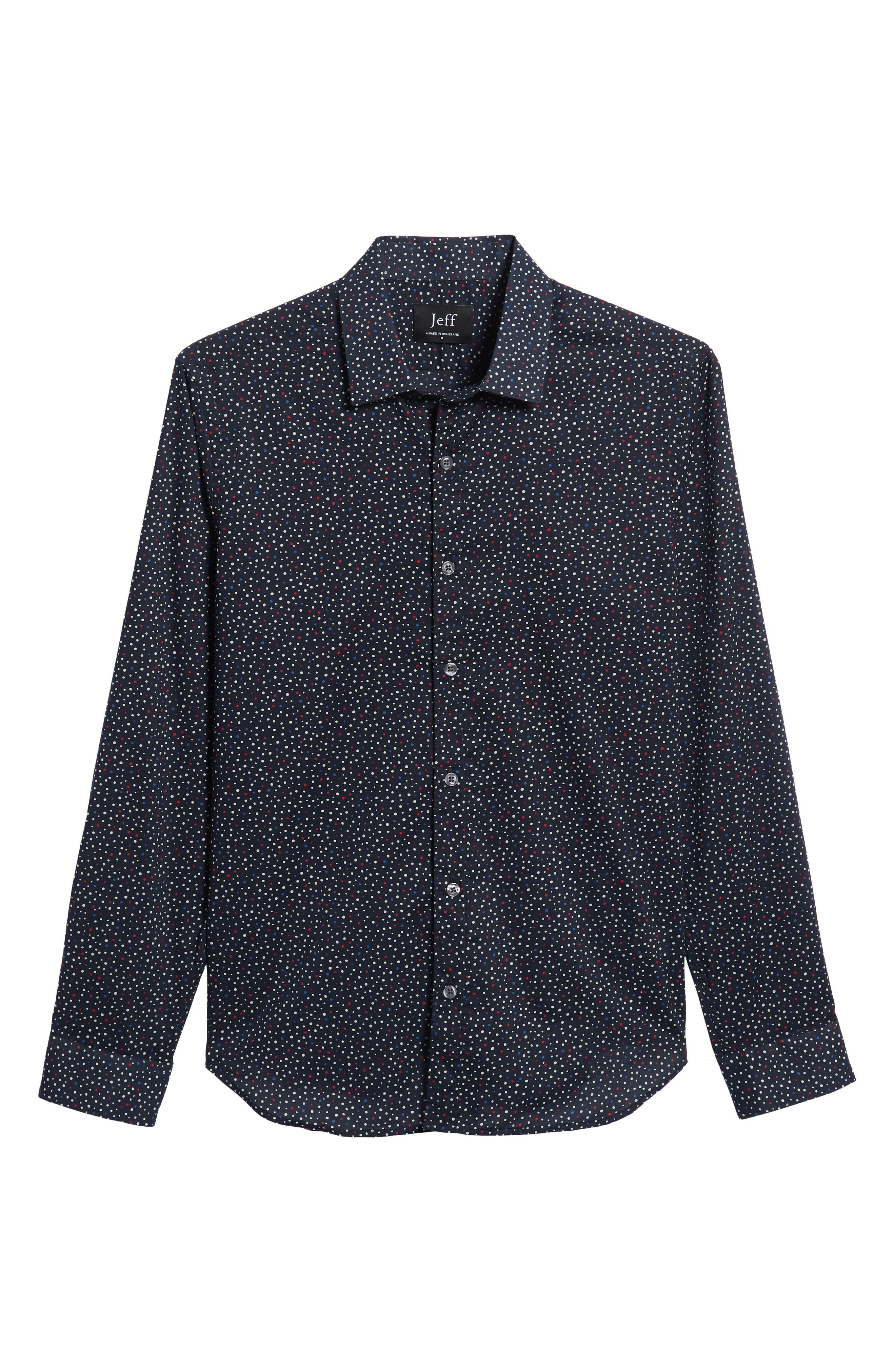Jenks Slim Fit Long Sleeve Sport Shirt,                             Alternate thumbnail 5, color,                             BLACK