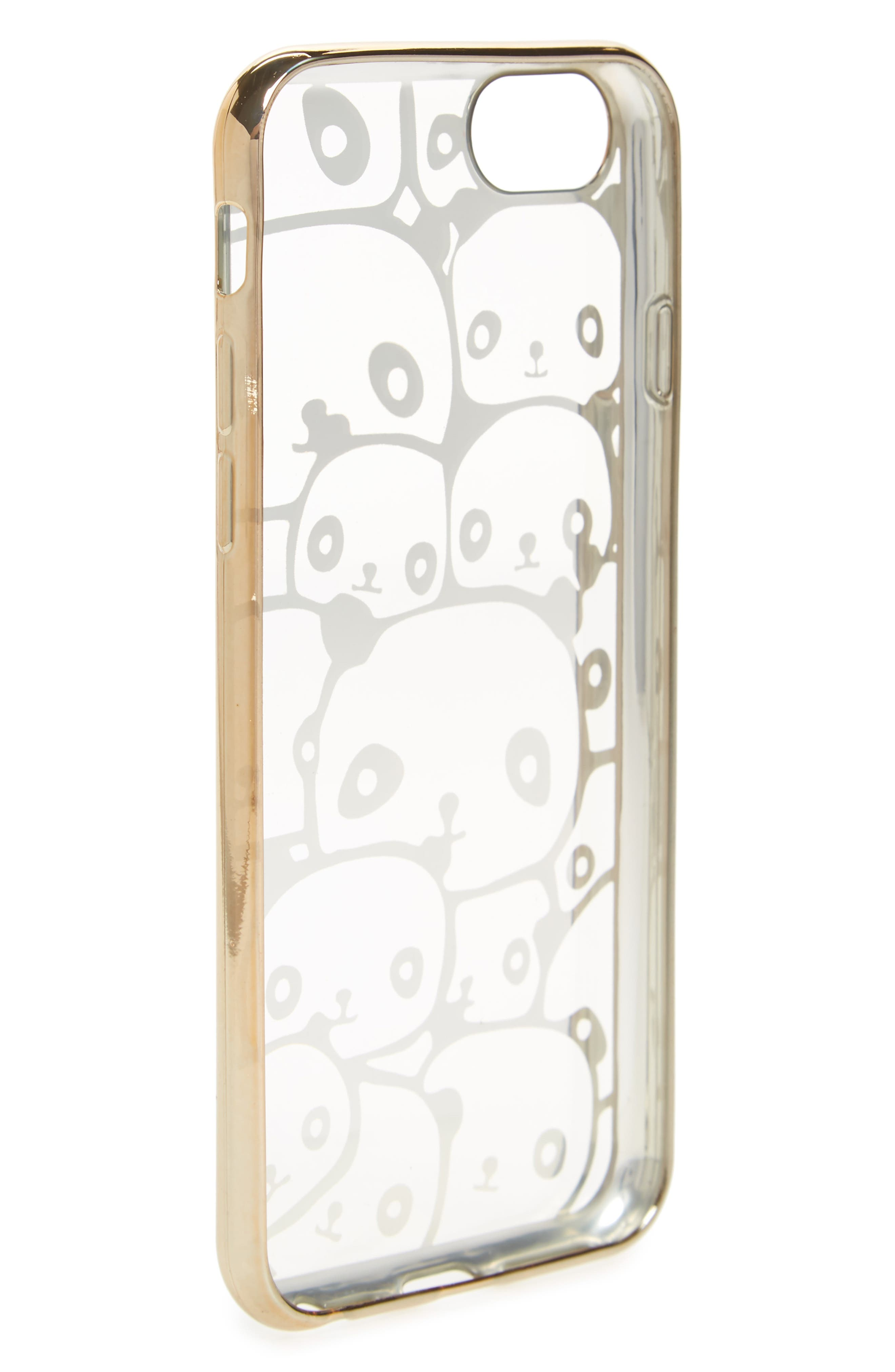 Transparent Panda iPhone 6/6s/7 Case,                             Alternate thumbnail 2, color,                             710
