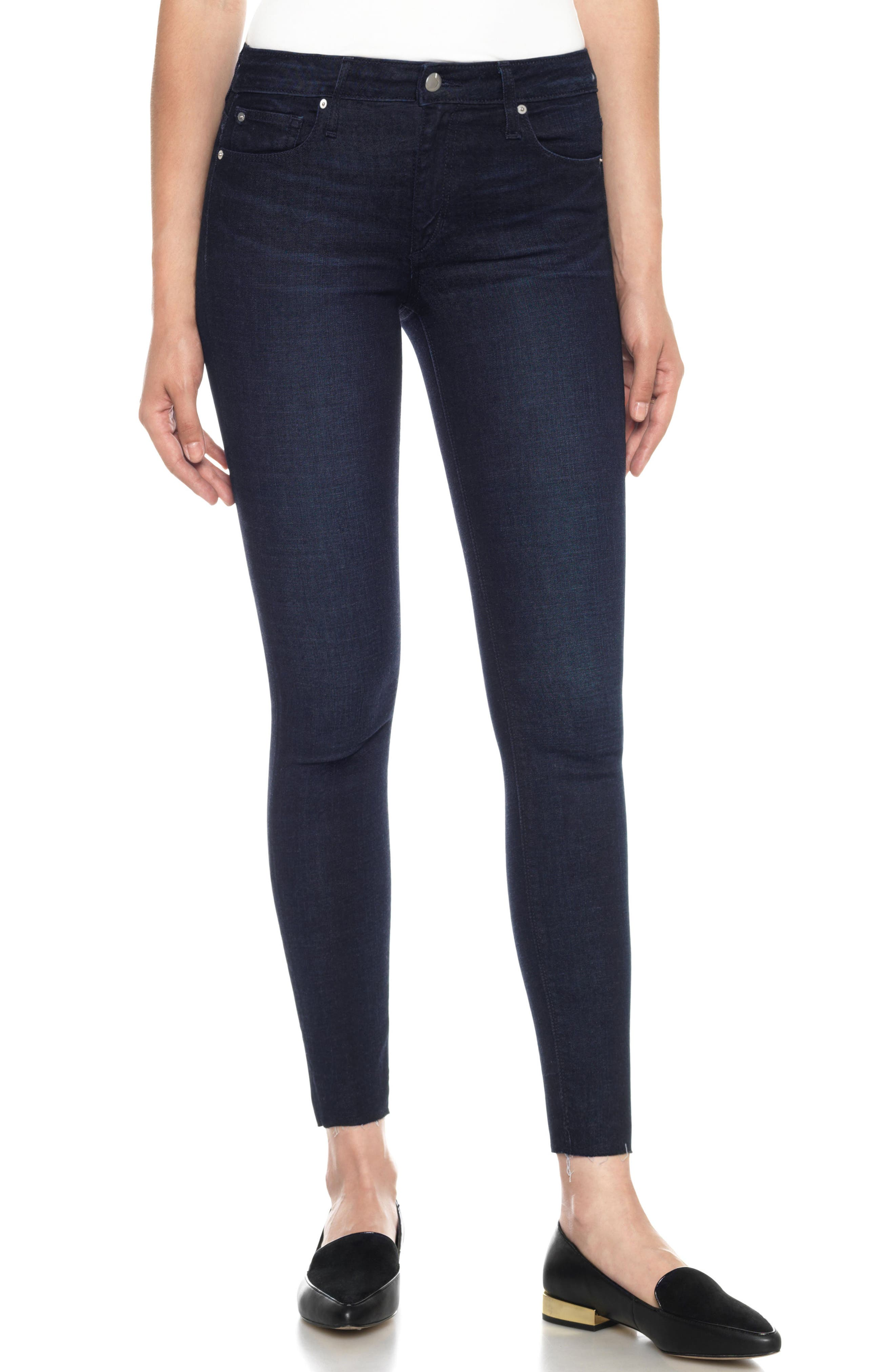 Flawless - Icon Ankle Skinny Jeans,                         Main,                         color, 400